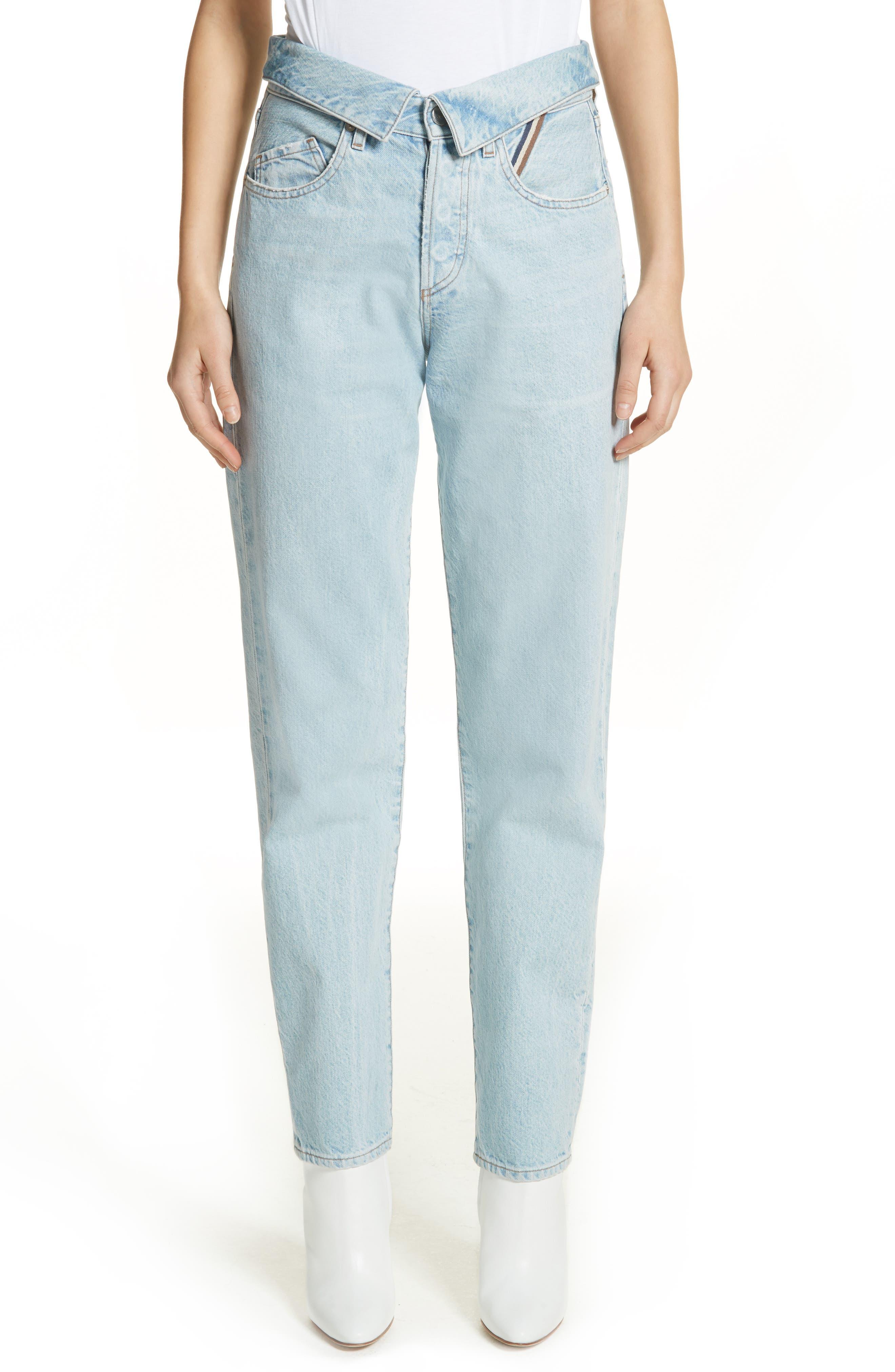Alternate Image 1 Selected - Jean Atelier Flip Straight Leg Jeans (Sky)