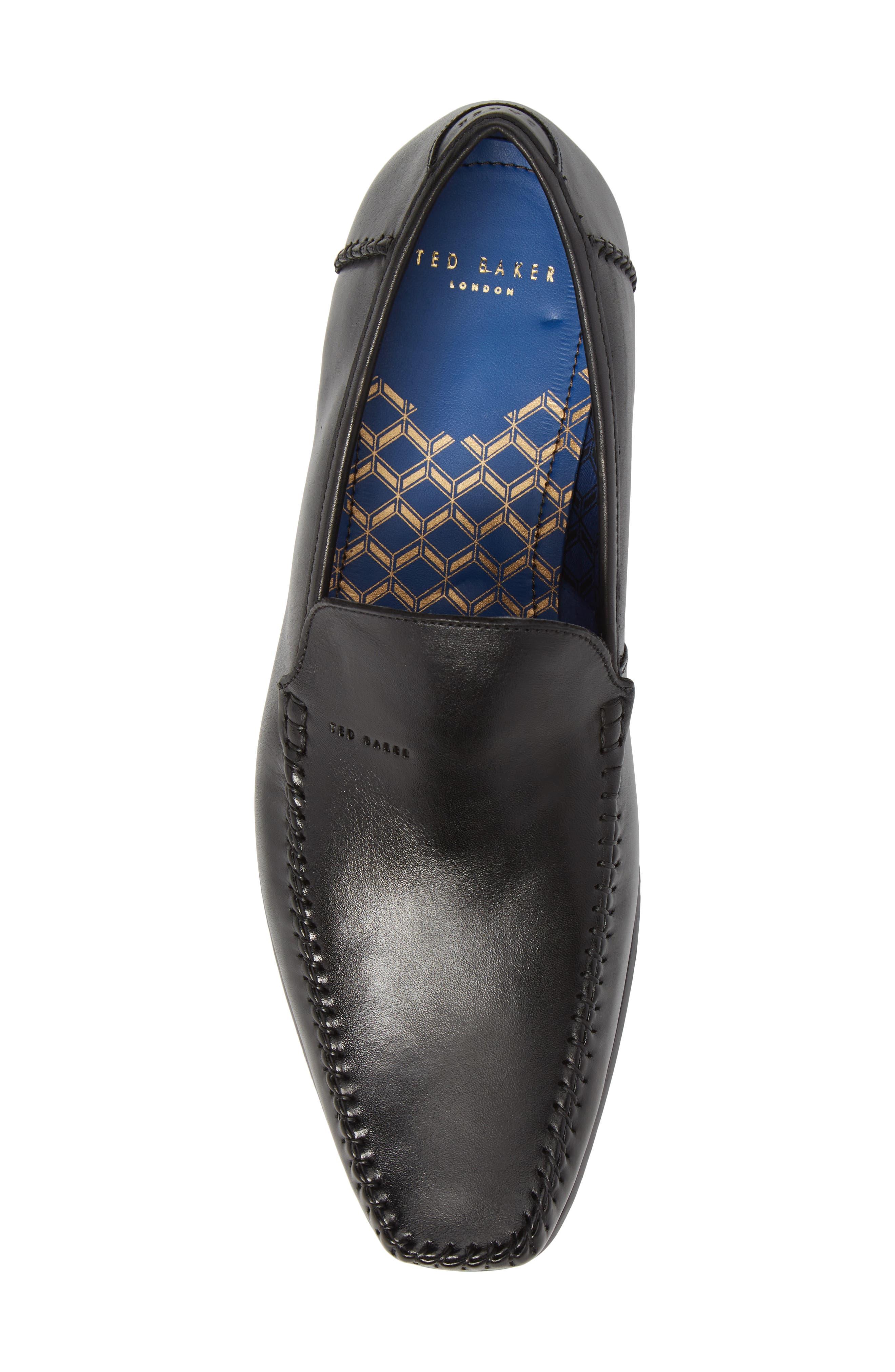 Bly 9 Venetian Loafer,                             Alternate thumbnail 5, color,                             Black Leather