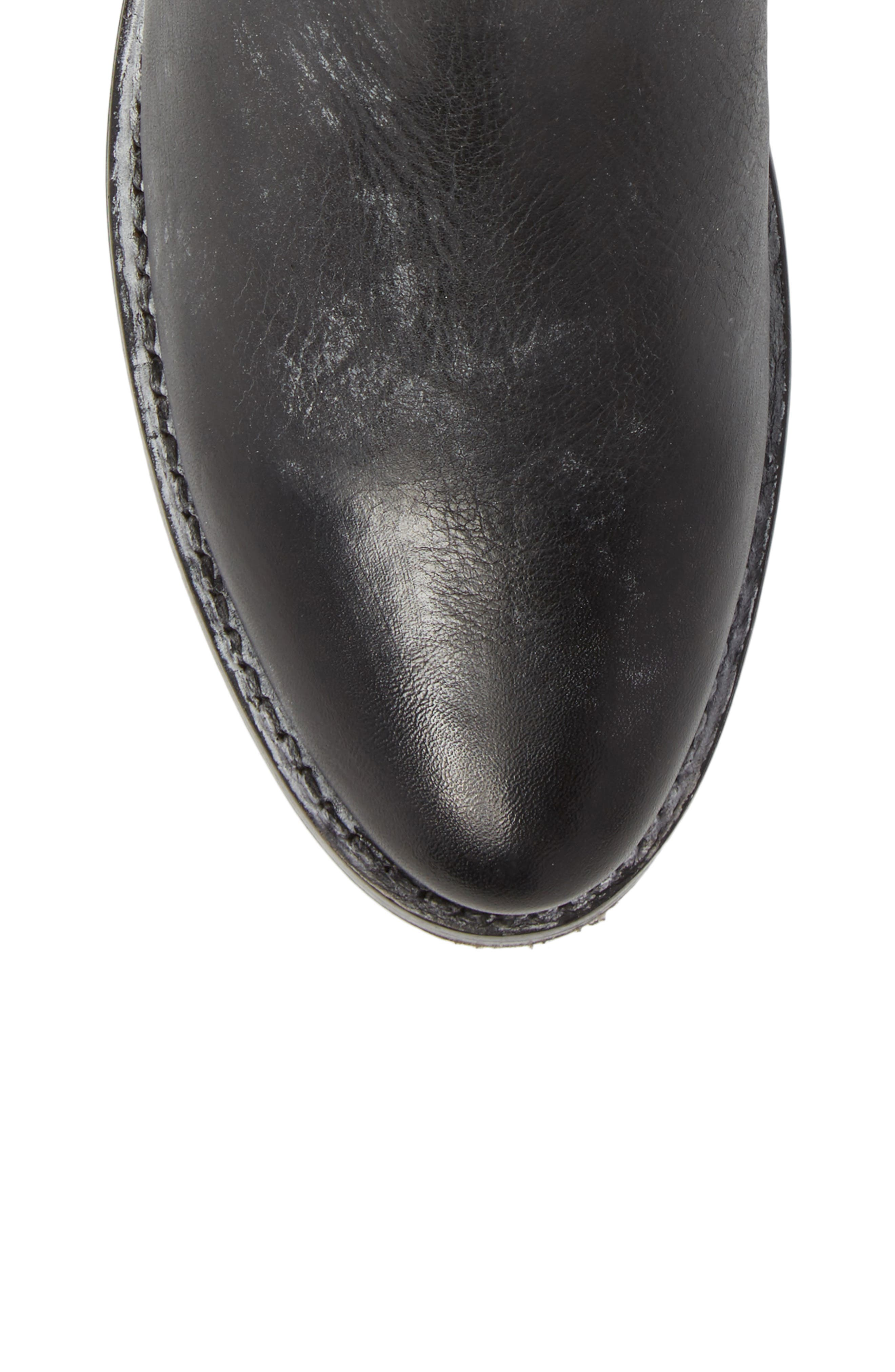Demi Rebel Zip Bootie,                             Alternate thumbnail 5, color,                             Black