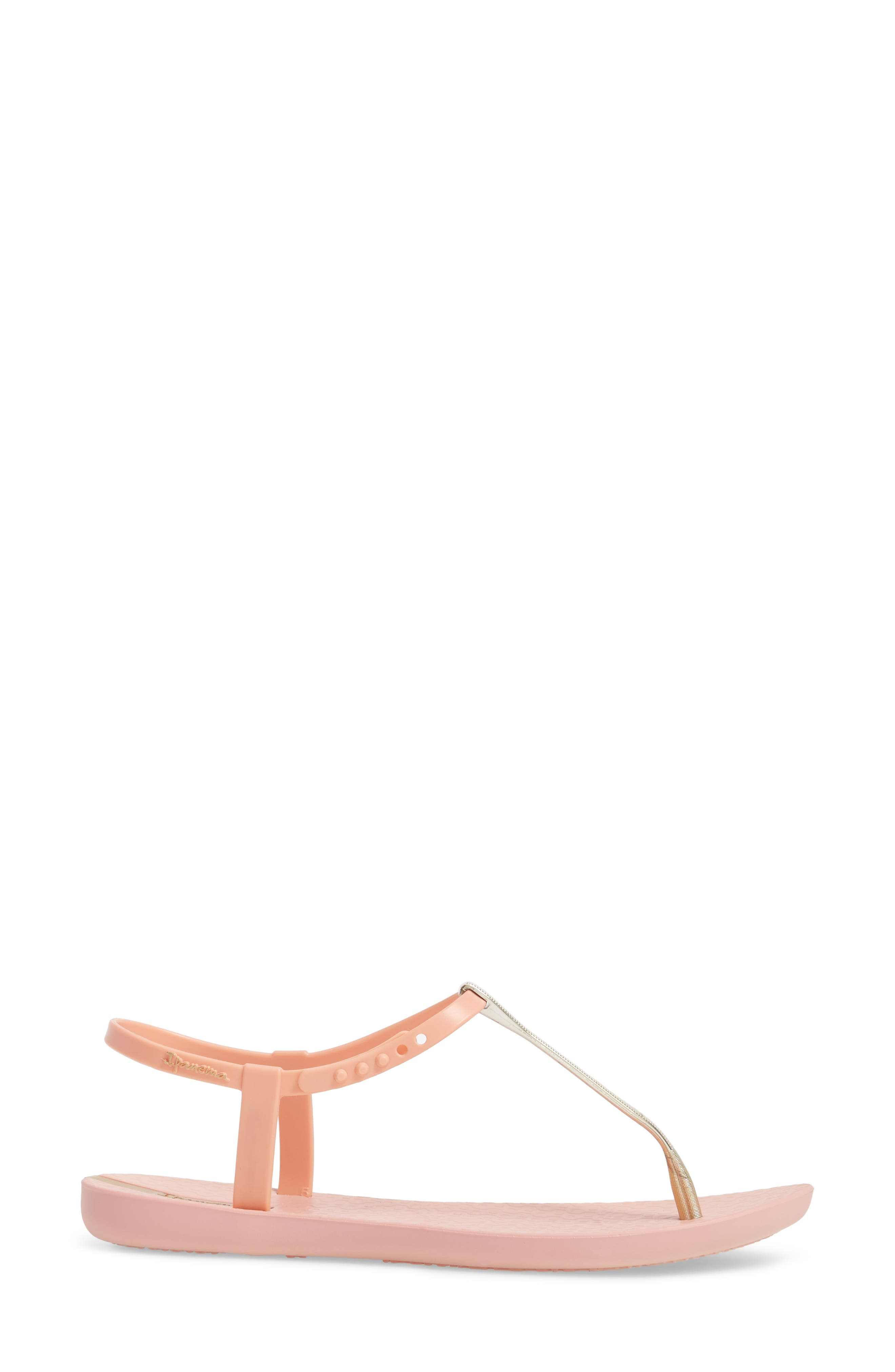 Bandeau Sandal,                             Alternate thumbnail 3, color,                             Pink/ Gold