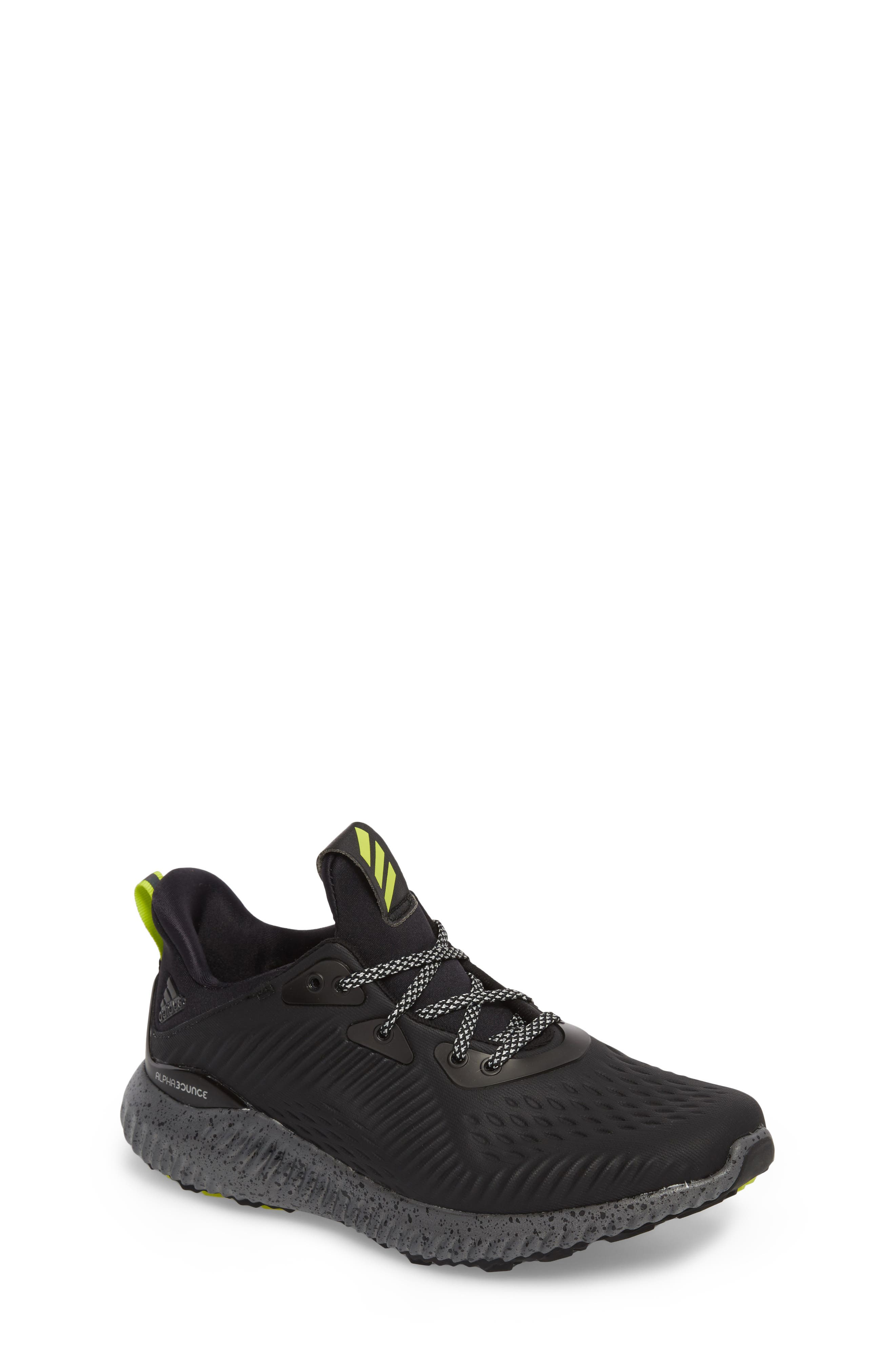 adidas AlphaBounce EM Running Shoe (Big Kid)