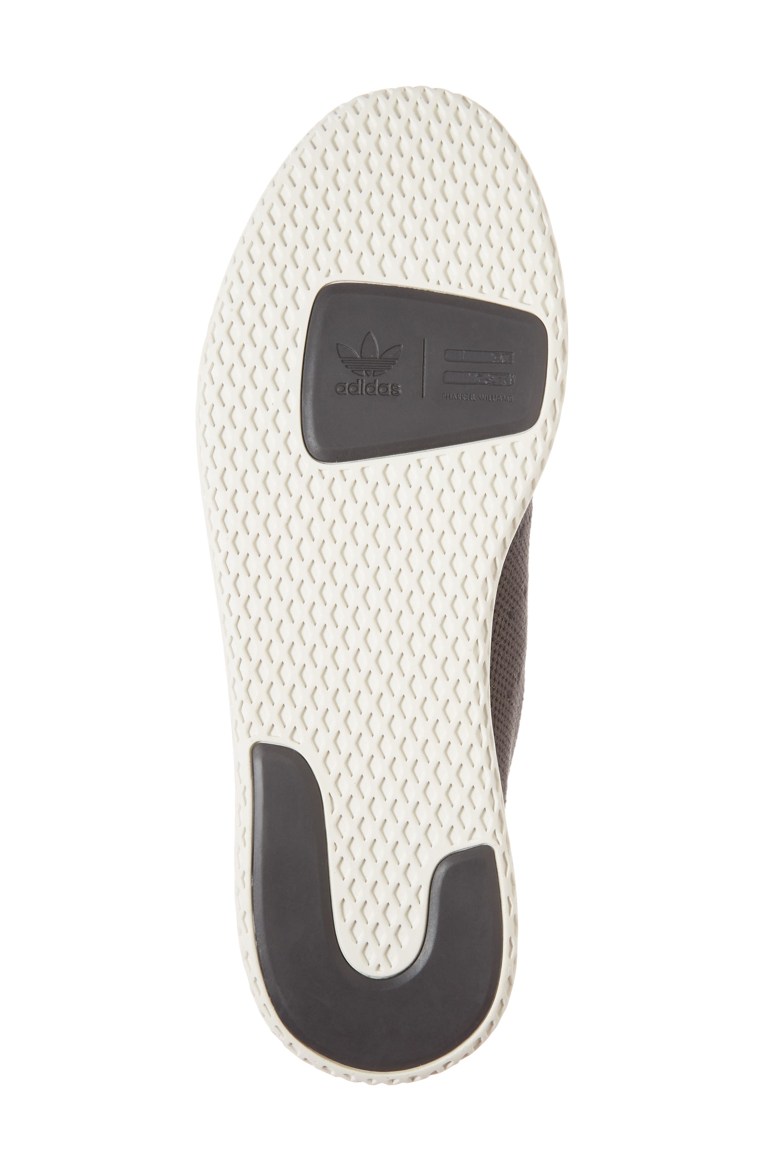 Pharrell Williams Tennis Hu Sneaker,                             Alternate thumbnail 6, color,                             Carbon / Carbon / Chalk White