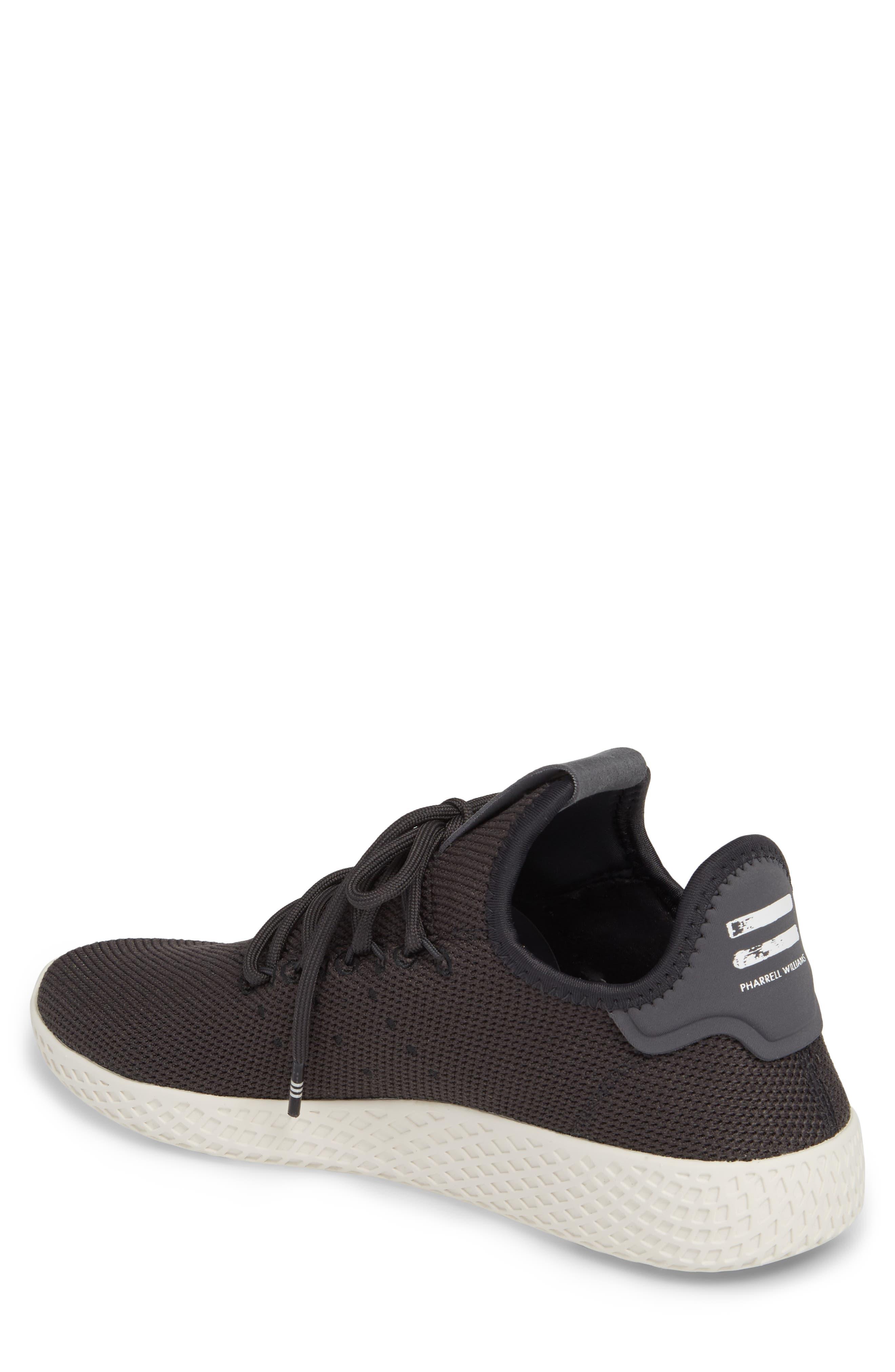 Pharrell Williams Tennis Hu Sneaker,                             Alternate thumbnail 2, color,                             Carbon / Carbon / Chalk White