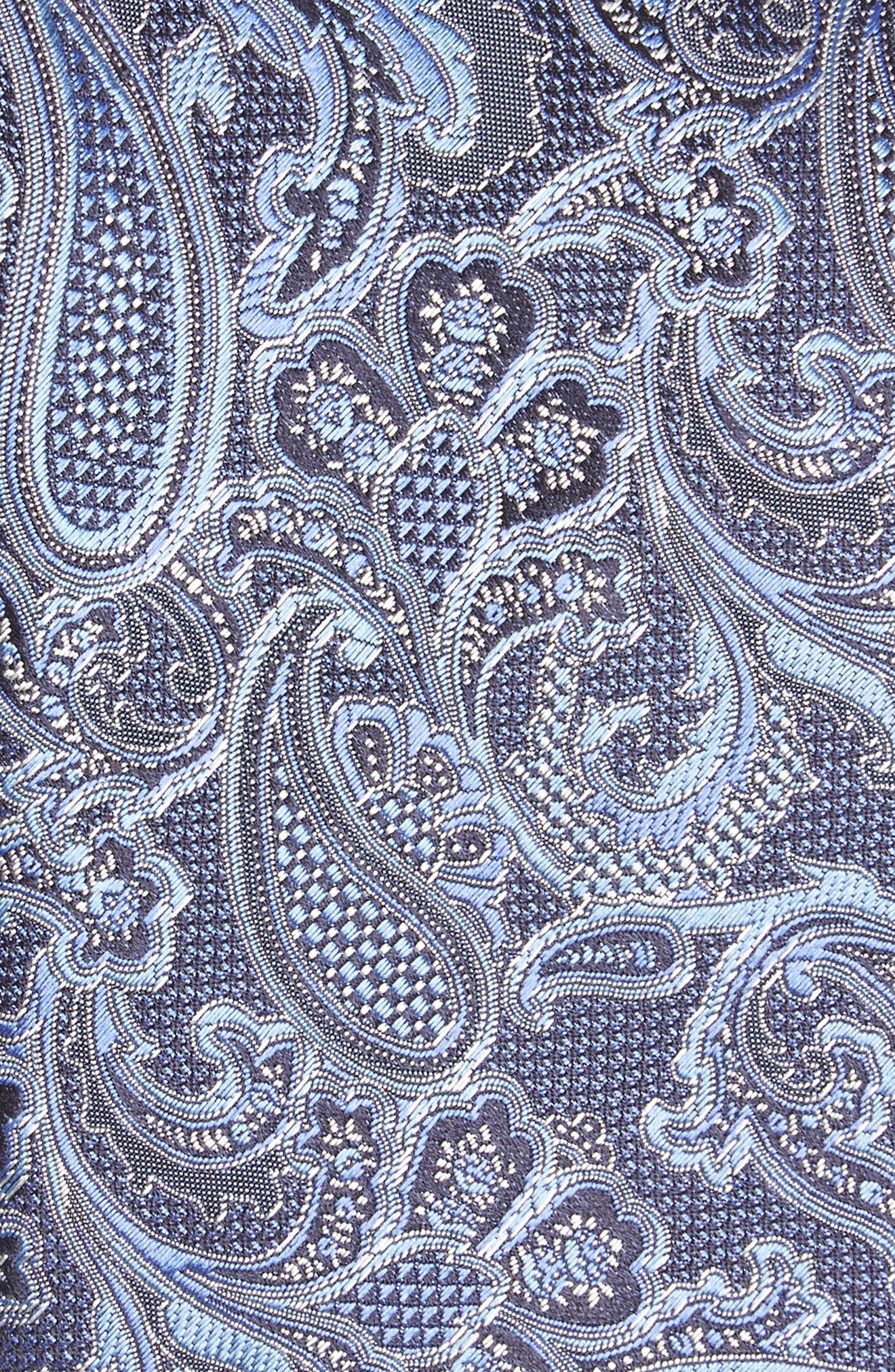 Paisley Silk Tie,                             Alternate thumbnail 2, color,                             Blue
