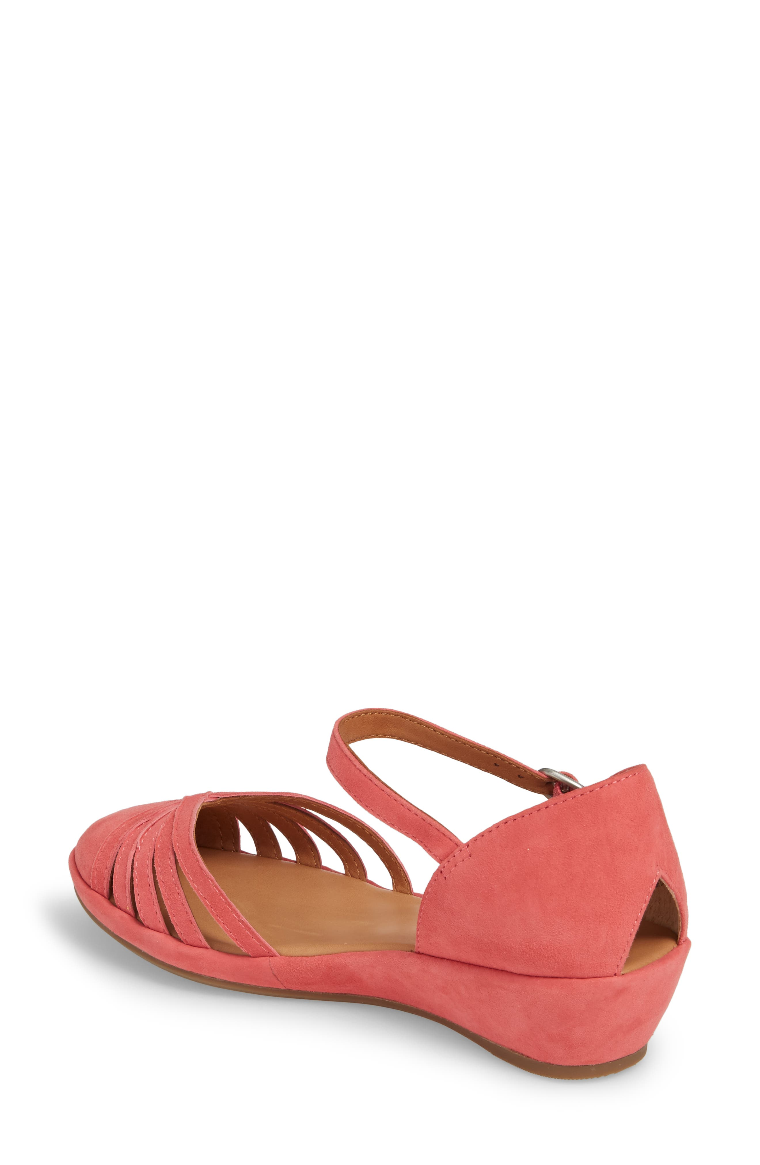 by Kenneth Cole Naira Wedge,                             Alternate thumbnail 2, color,                             Coral Suede