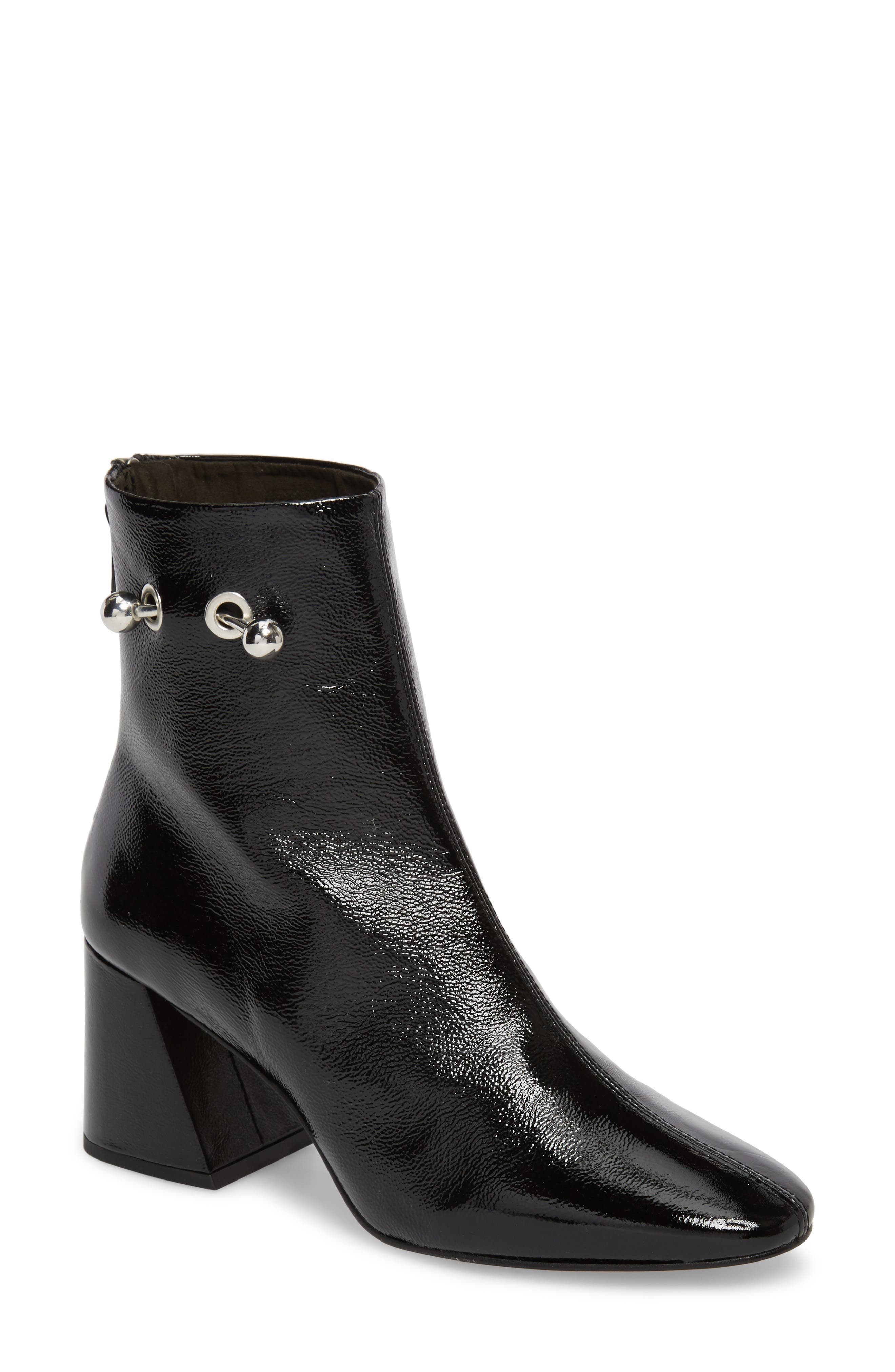 Mighty Flared Heel Bootie,                             Main thumbnail 1, color,                             Black