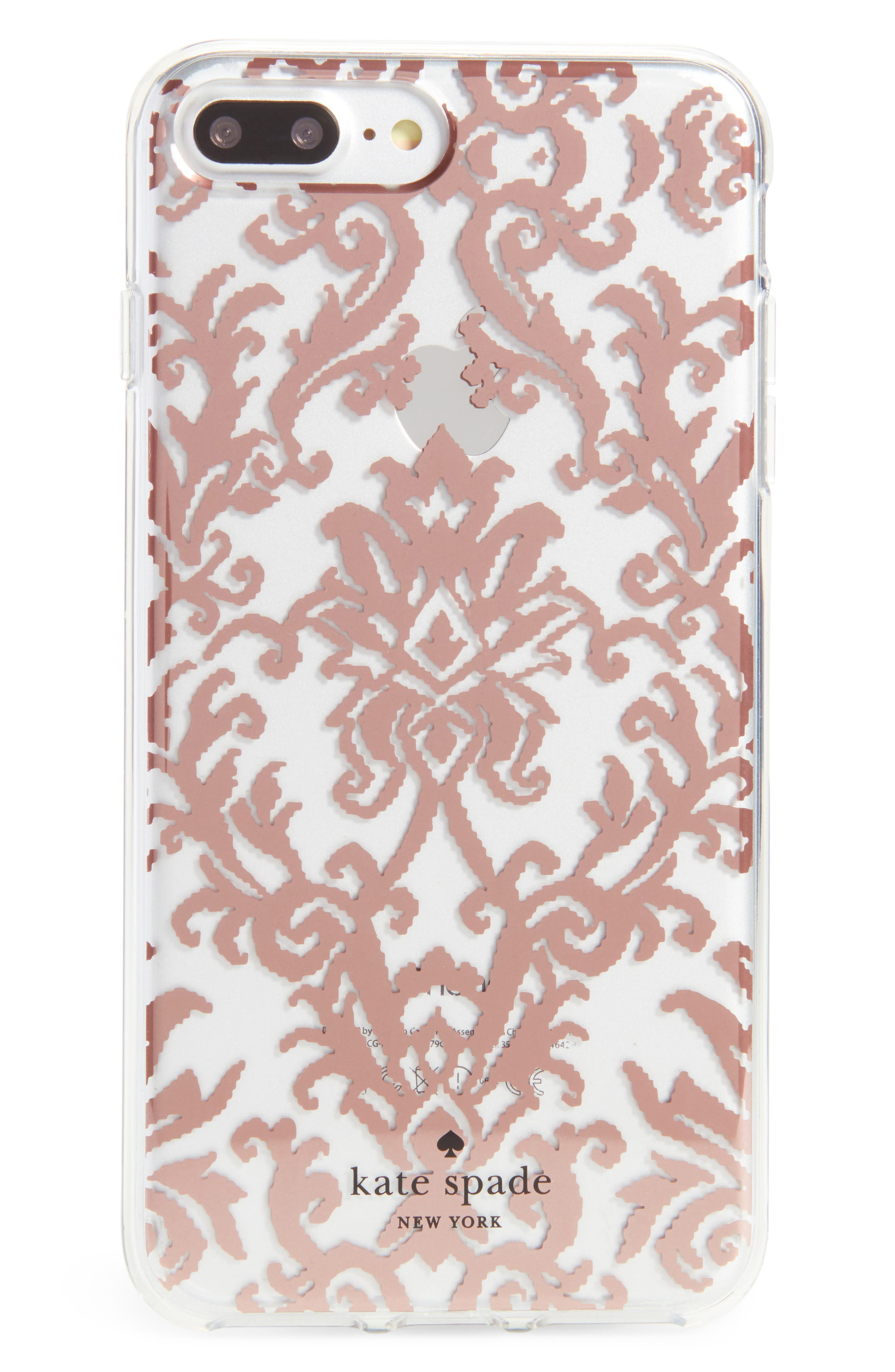 tapestry iPhone 7/8 & 7/8 Plus case,                         Main,                         color, Rose Gold