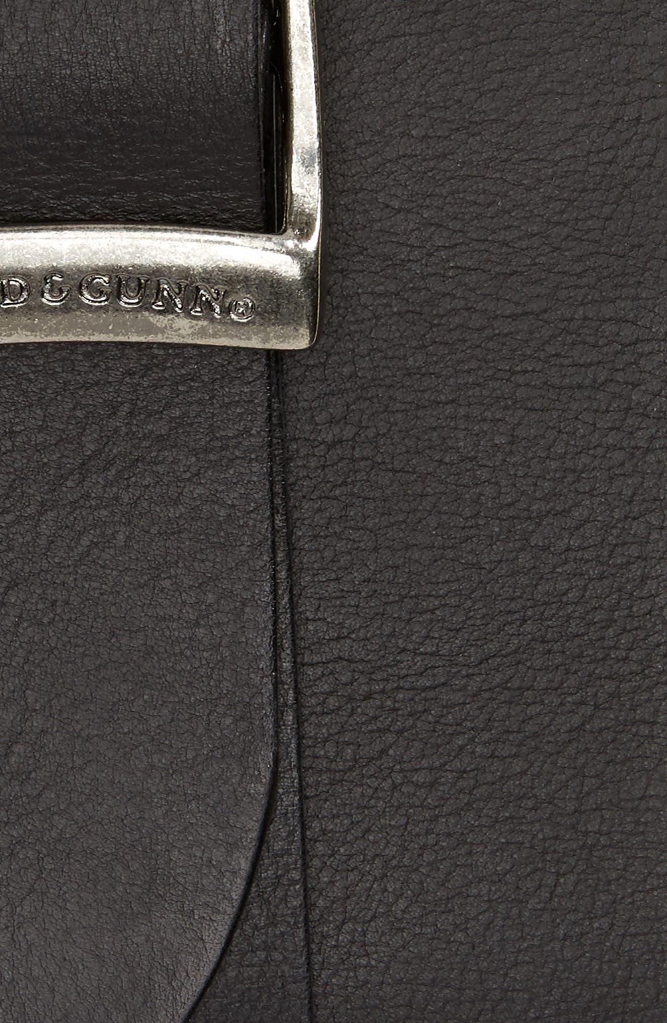 Cornonet Crescent Leather Belt,                             Alternate thumbnail 2, color,                             Nero