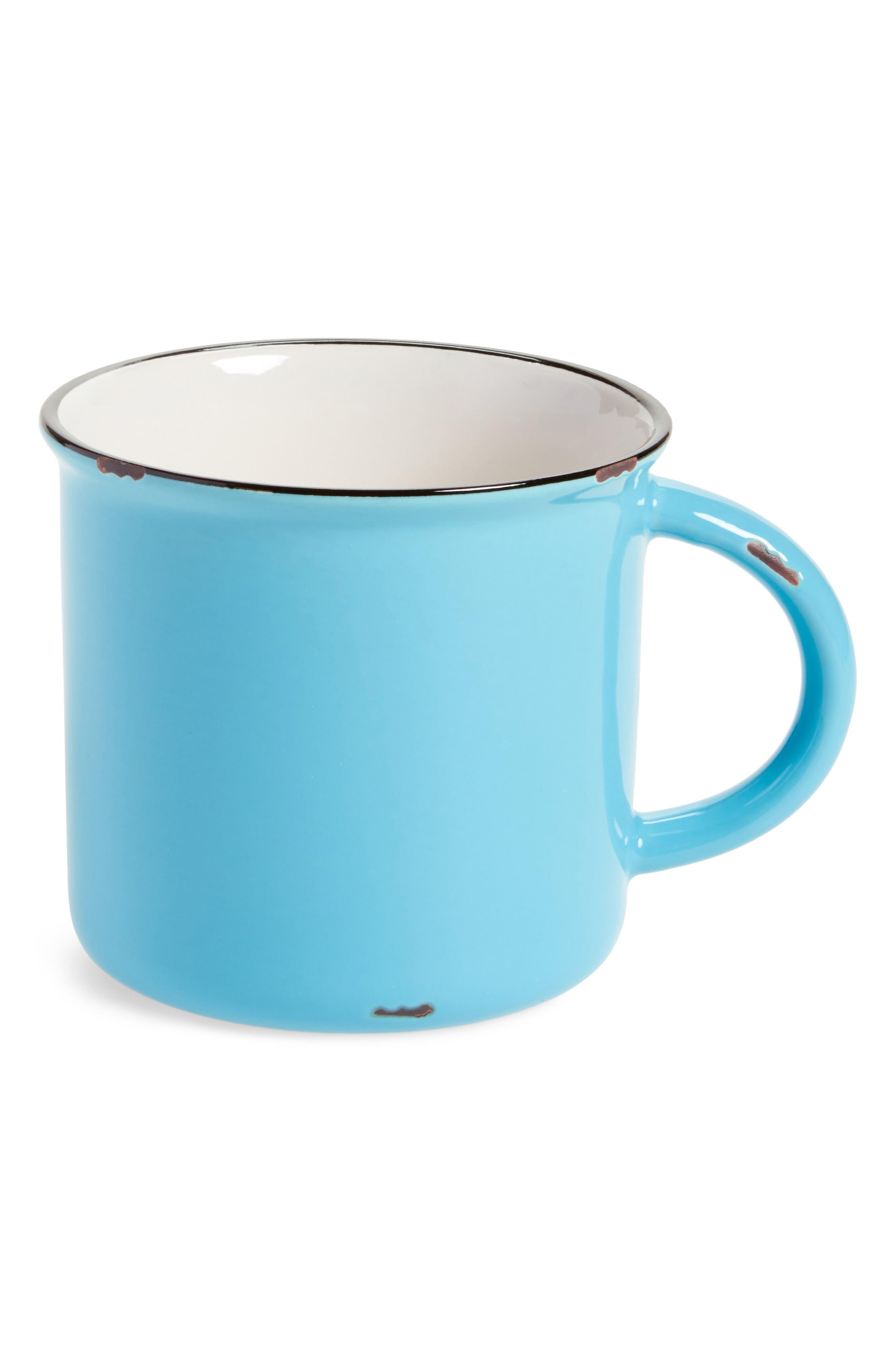 Stoneware Mug,                         Main,                         color, Teal