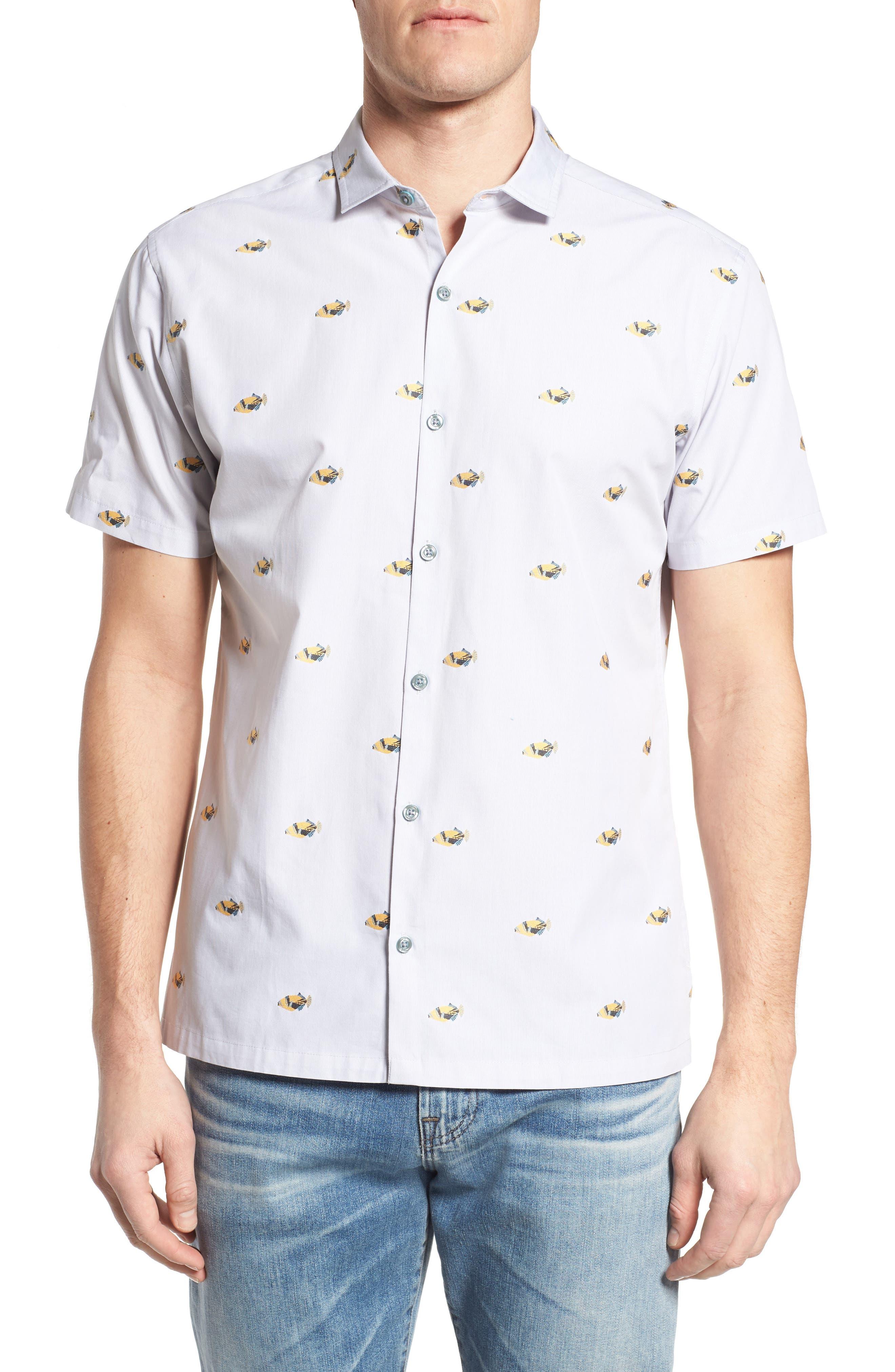 Main Image - Tori Richard 1Humu 2Humu Embroidered Sport Shirt