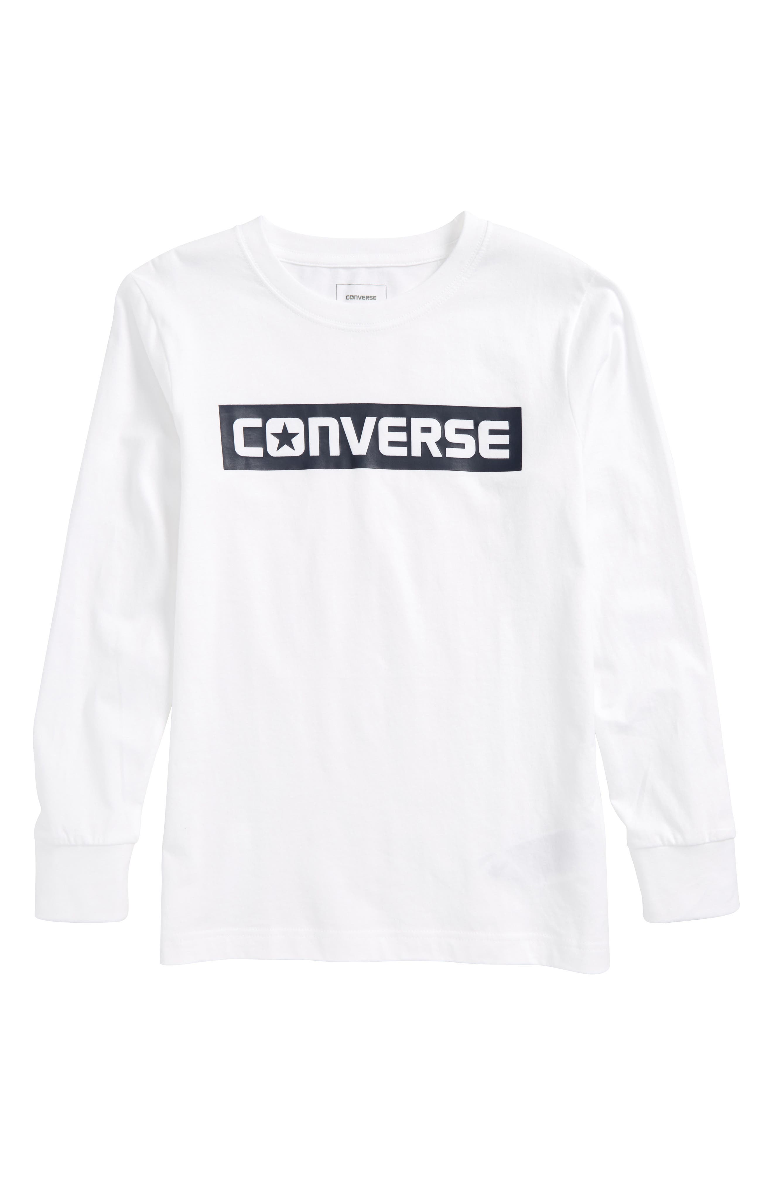 Alternate Image 1 Selected - Converse Wordmark Graphic T-Shirt (Big Boys)