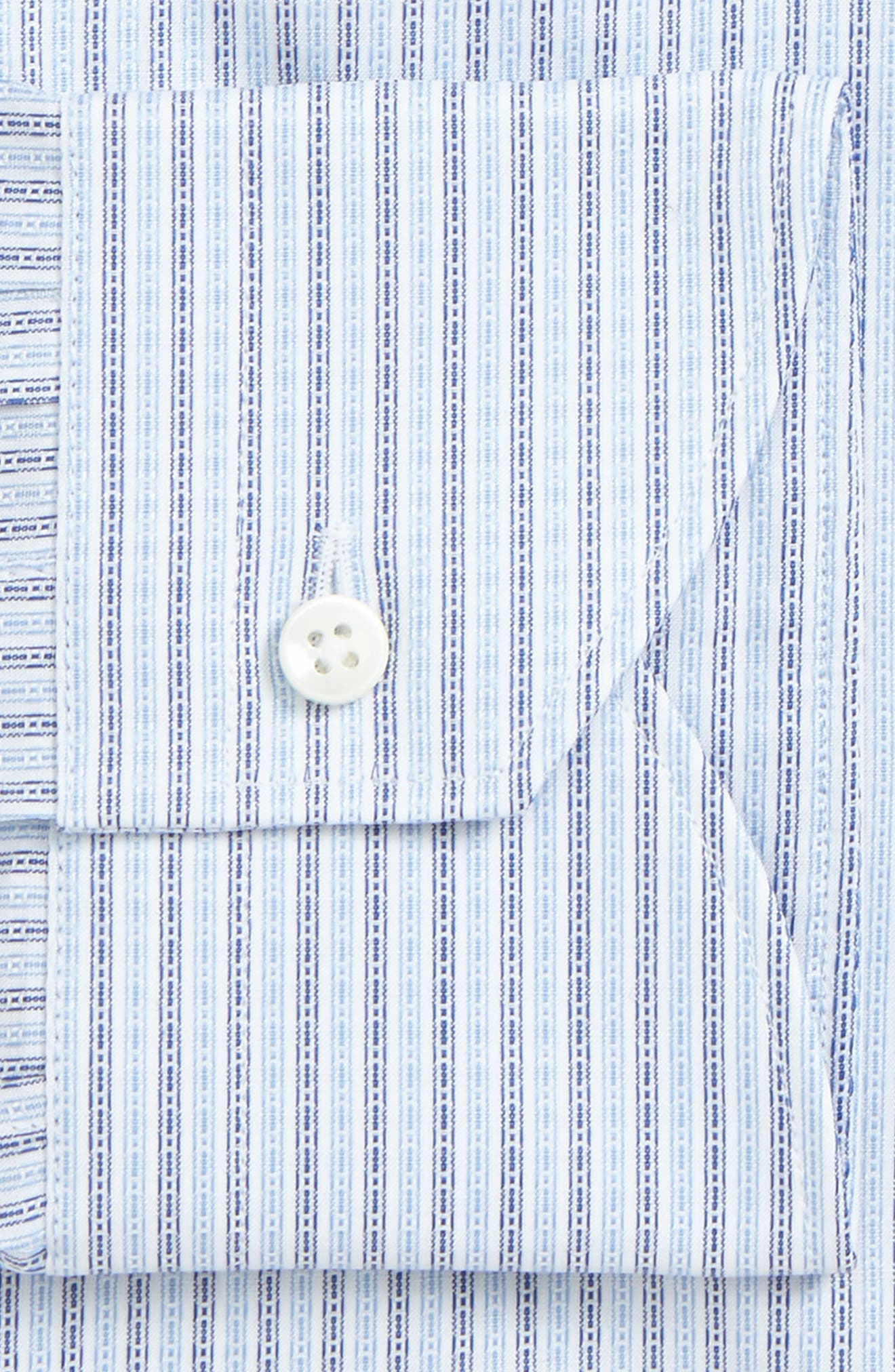Regular Fit Geometric Dress Shirt,                             Alternate thumbnail 2, color,                             Med Blue