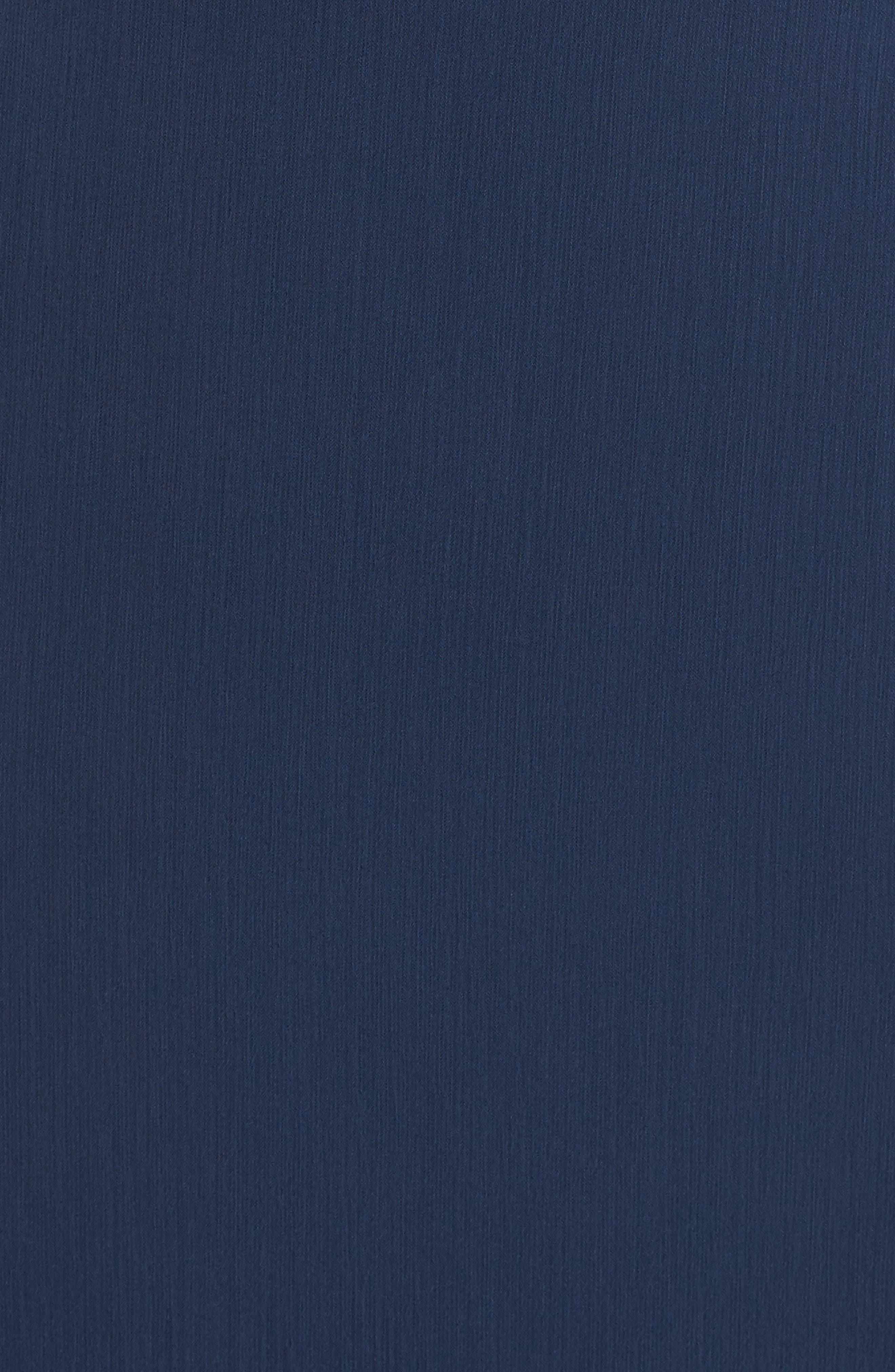 Lauren Cold Shoulder Tiered Gown,                             Alternate thumbnail 5, color,                             Navy