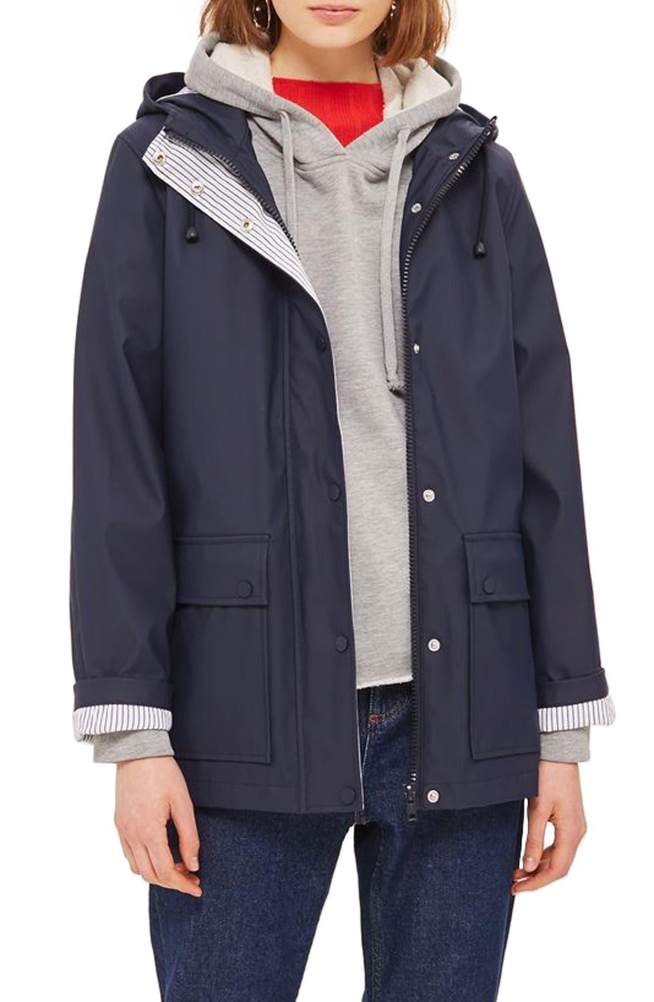 Maisie Rain Jacket,                         Main,                         color, Navy Blue