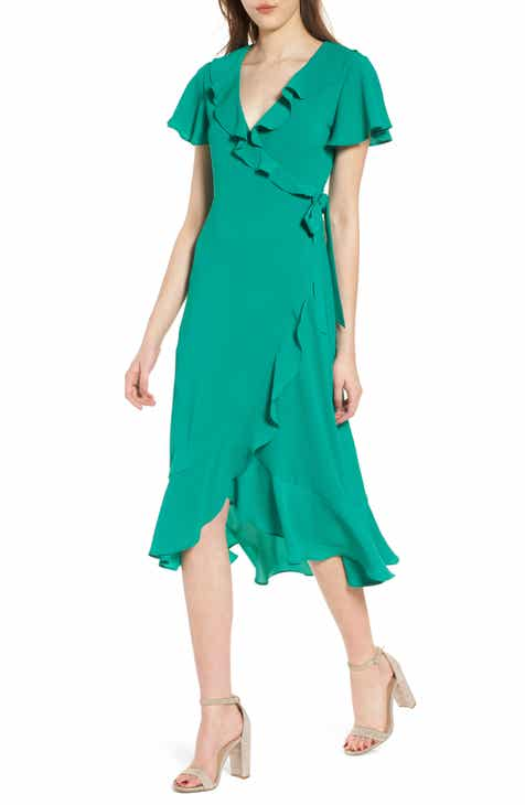 Chelsea28 Ruffle Wrap Dress by CHELSEA28