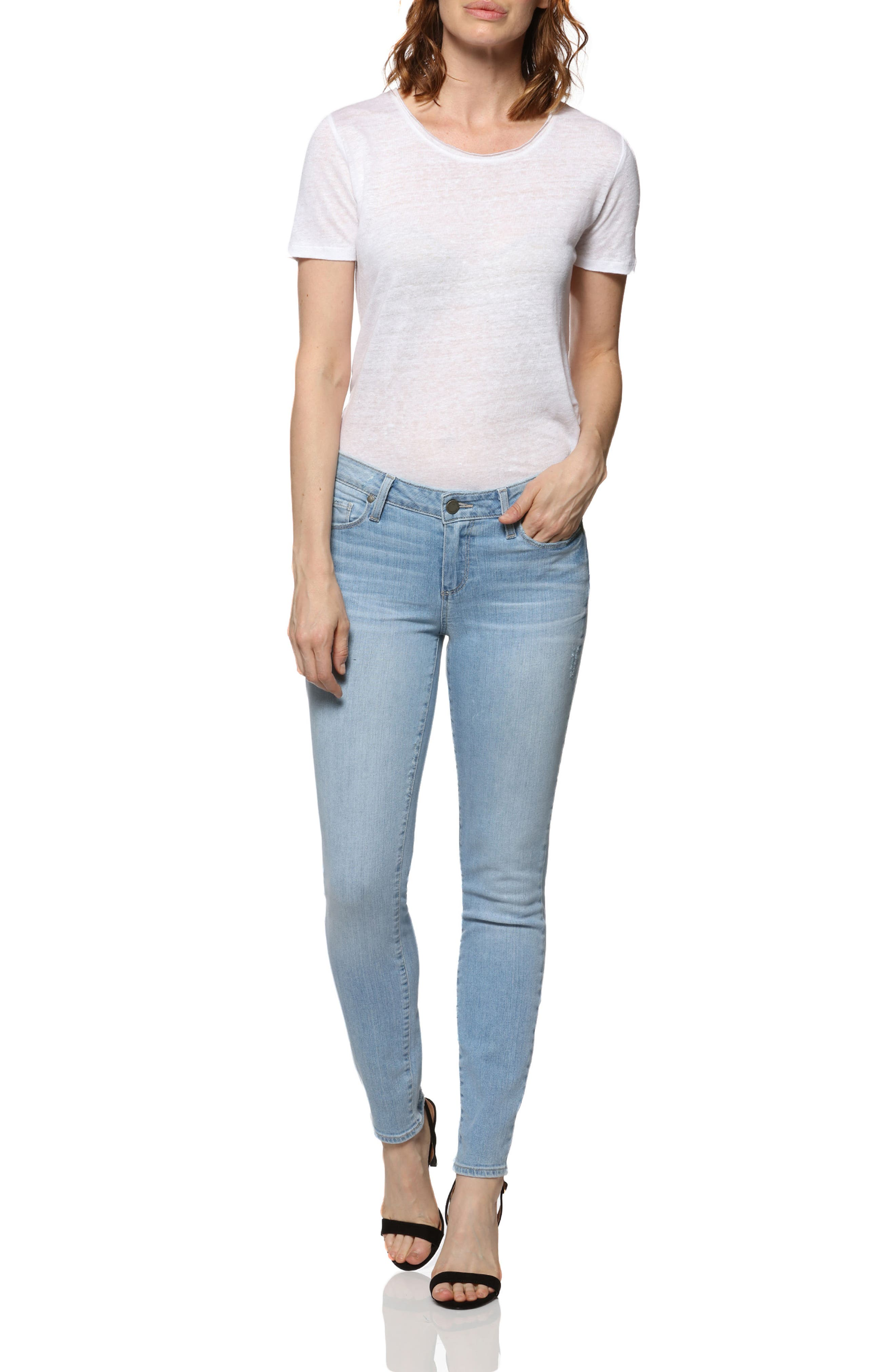 Verdugo Ankle Skinny Jeans,                             Alternate thumbnail 3, color,                             Lumina
