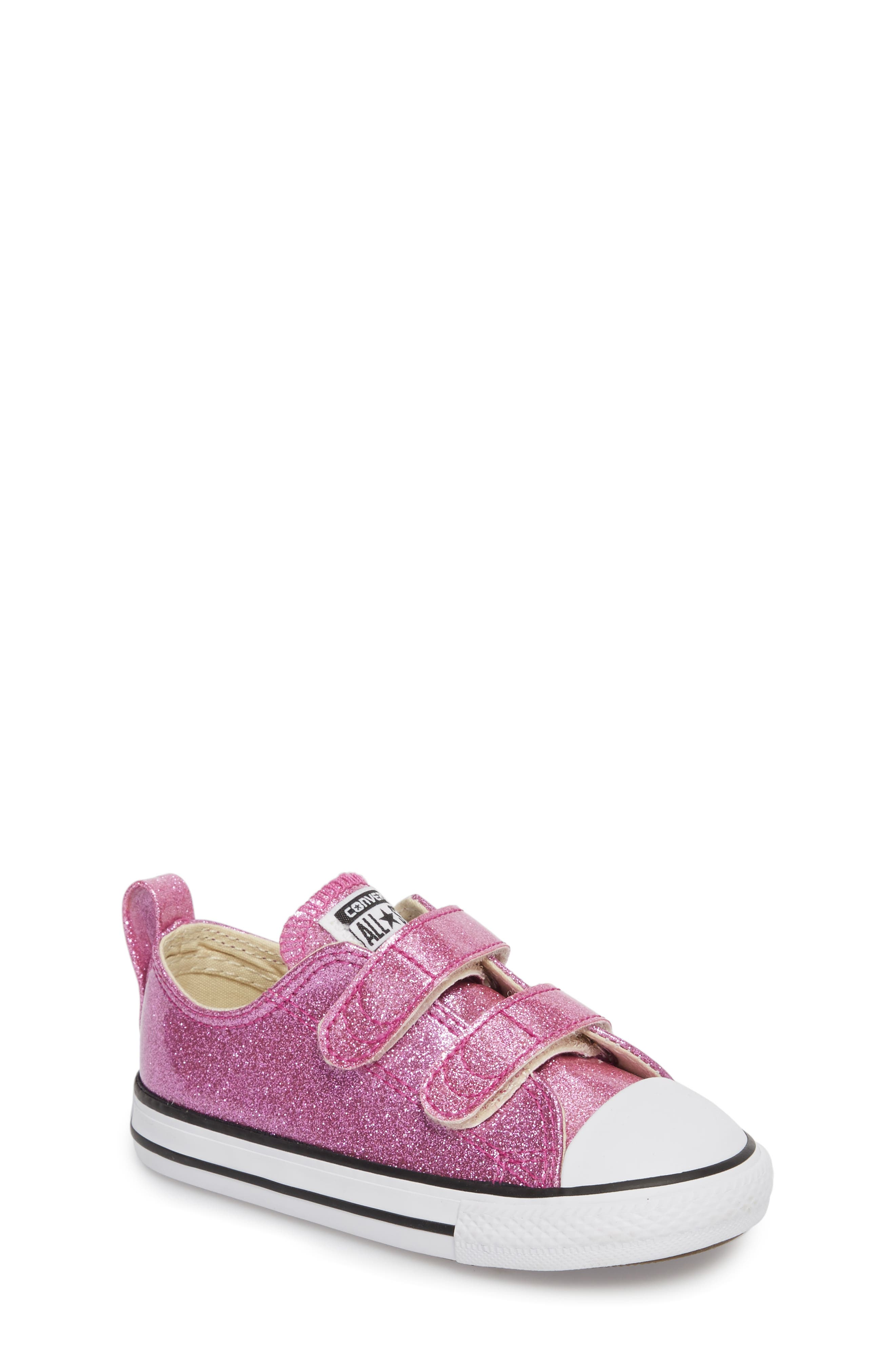 All Star<sup>®</sup> Seasonal Glitter Sneaker,                         Main,                         color, Bright Violet