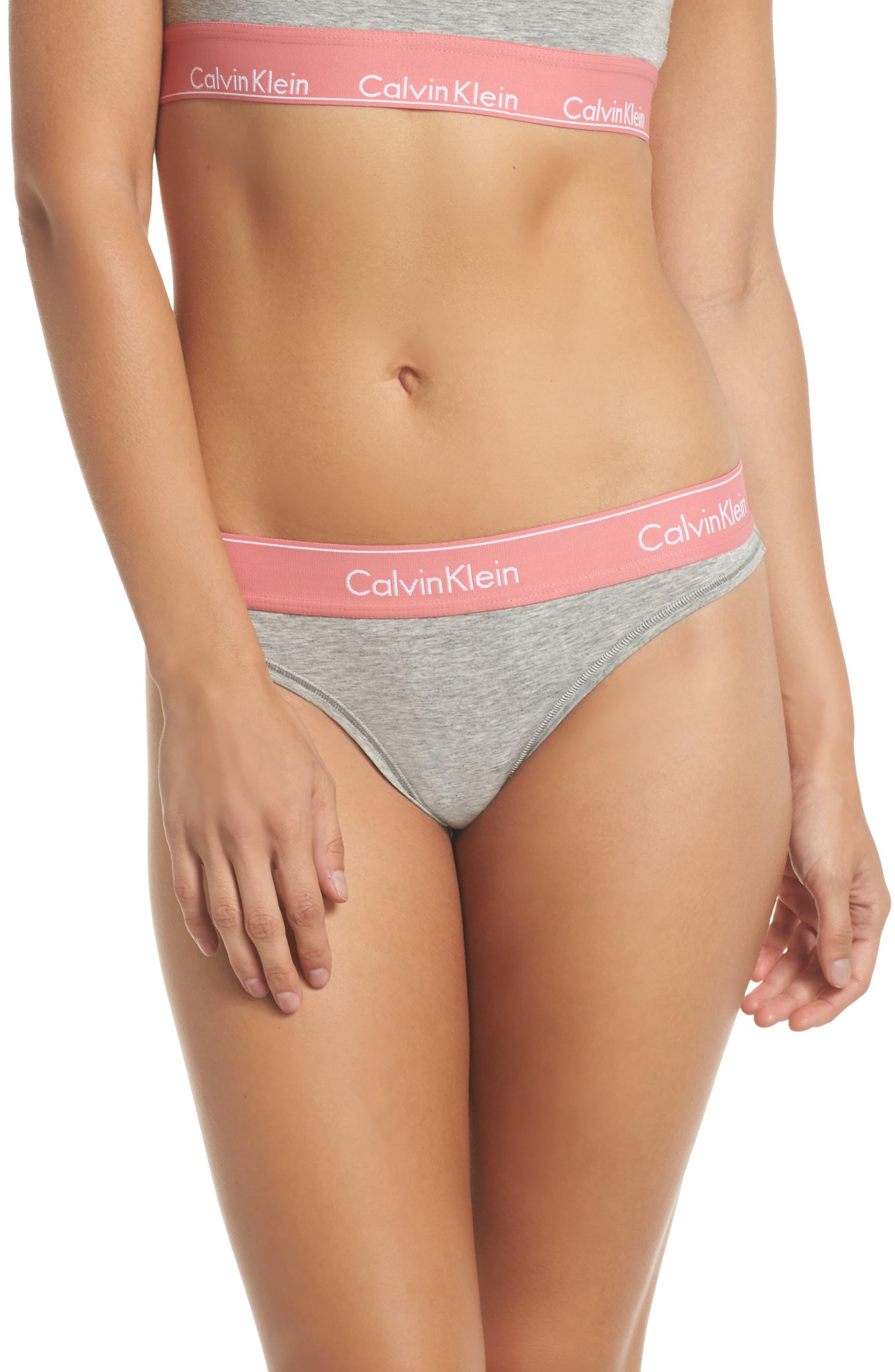 2e6ec42dc5 Calvin Klein Modern Cotton Thong F3786 In Grey Heather Sensation ...