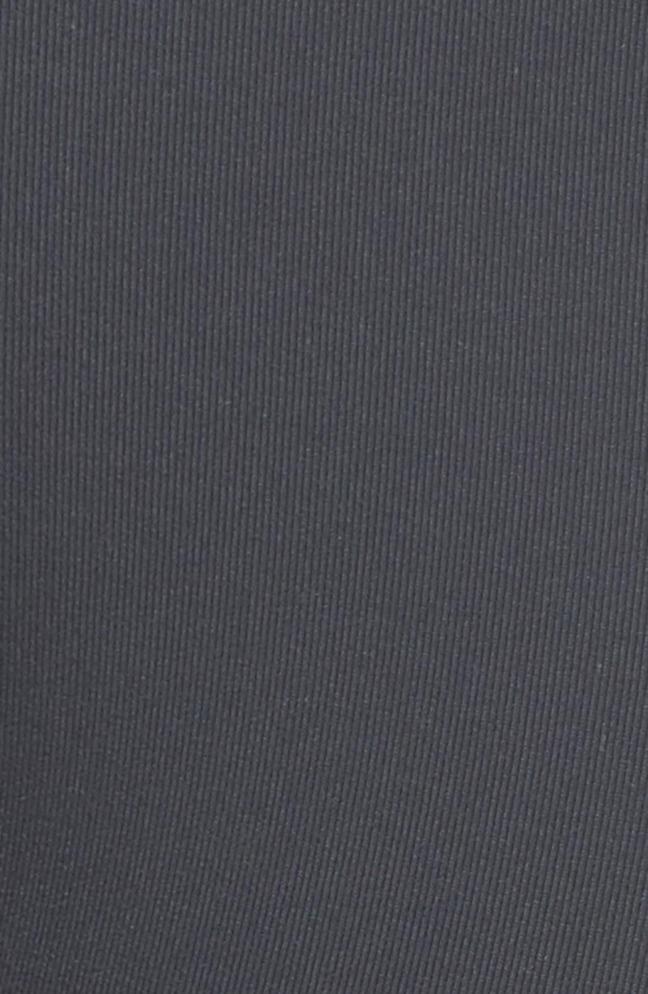 High Waist Mesh Inset Leggings,                             Alternate thumbnail 6, color,                             Anthracite