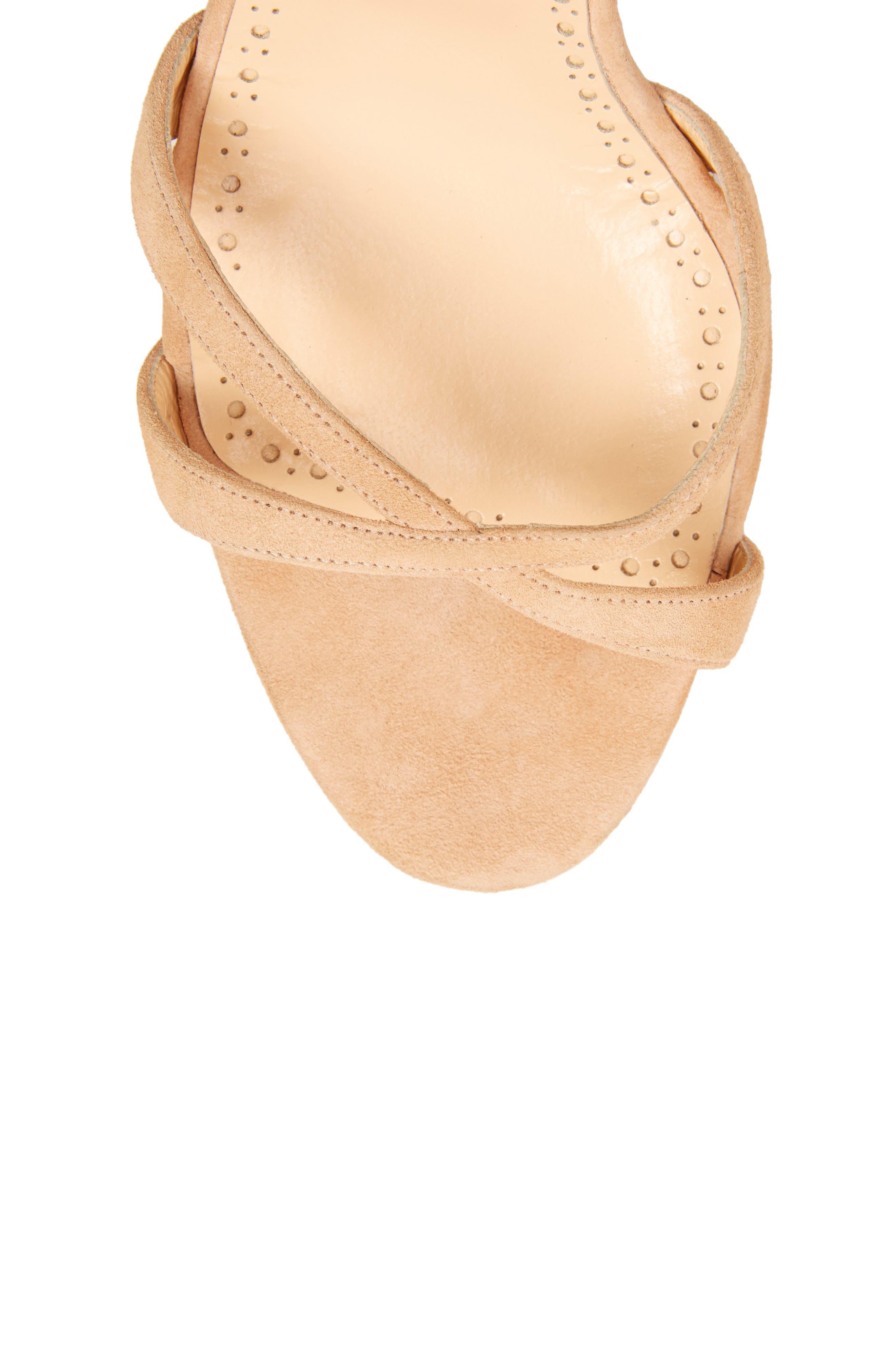 Criss Ankle Tie Sandal,                             Alternate thumbnail 5, color,                             Light Camel