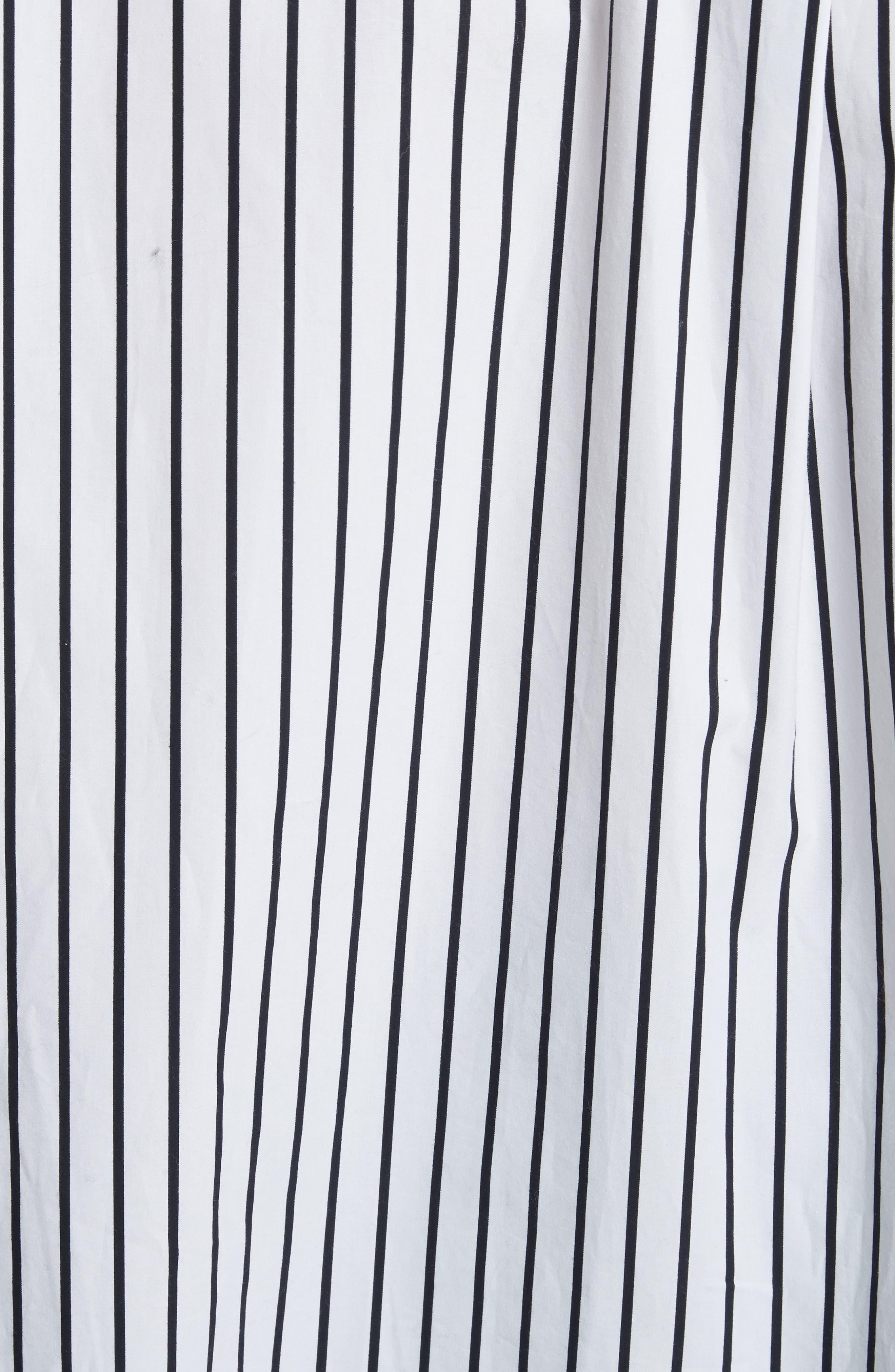 Stripe Cotton Blouse,                             Alternate thumbnail 5, color,                             Navy Multi