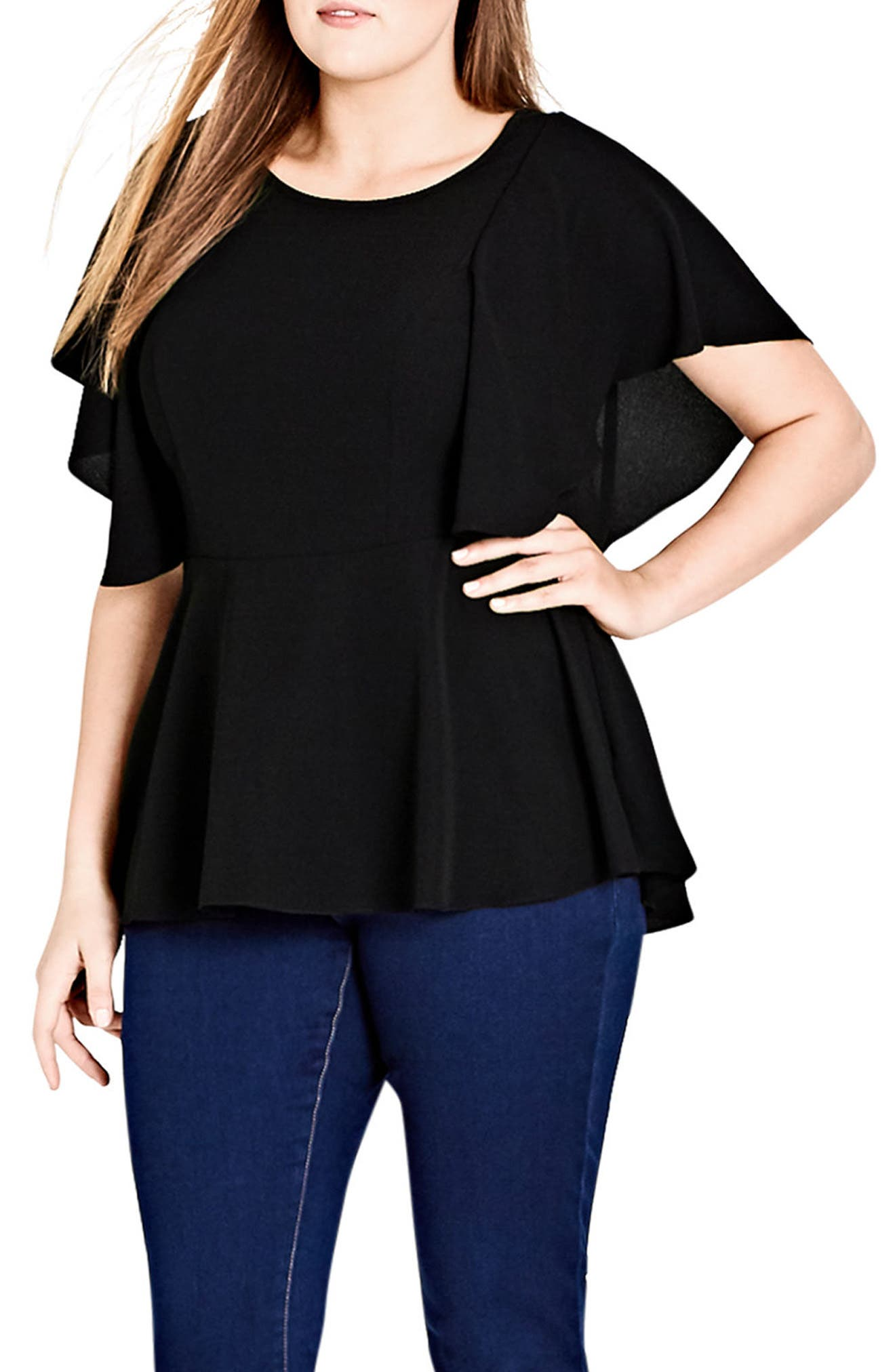 Romantic Mood Top,                             Main thumbnail 1, color,                             Black