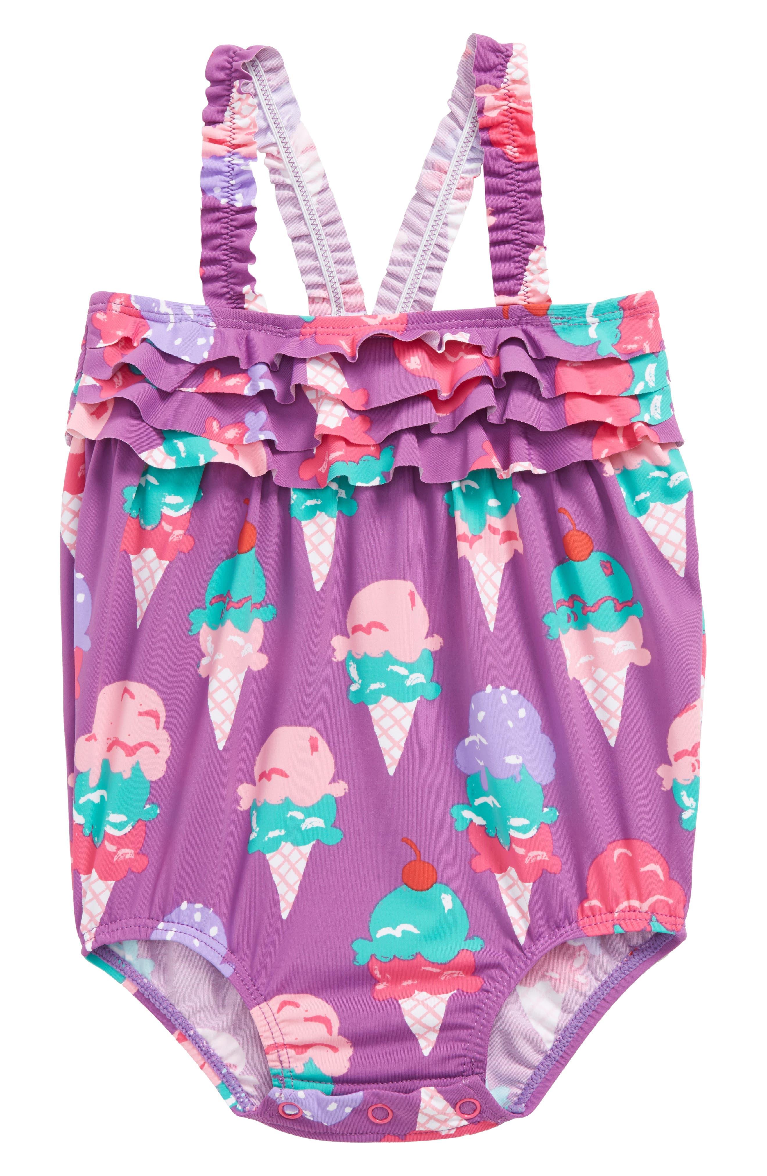 Ice Cream Mini One-Piece Swimsuit,                             Main thumbnail 1, color,                             Ice Cream Treats Mini
