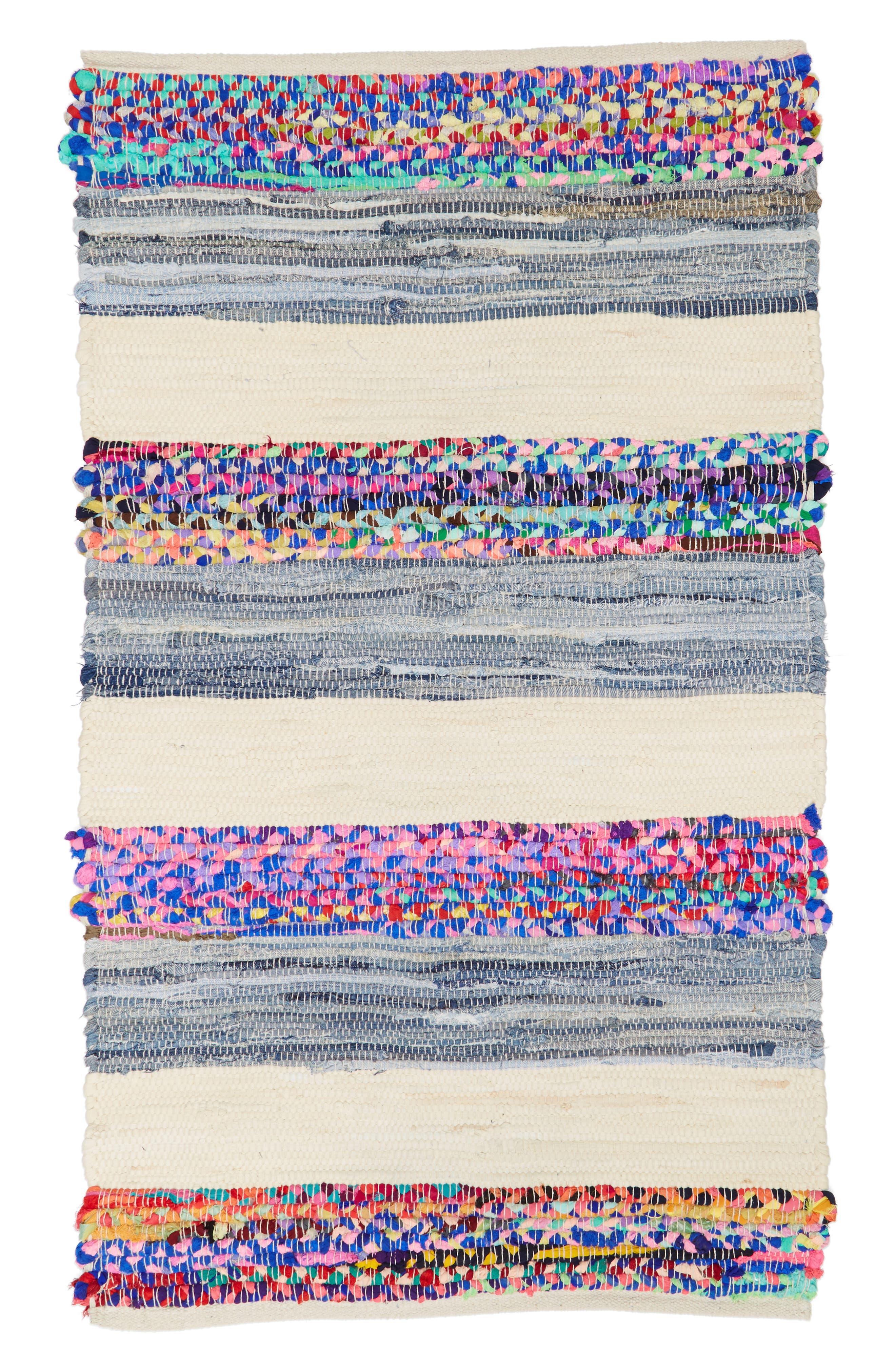 Denim Stripe Rug,                         Main,                         color, Multi