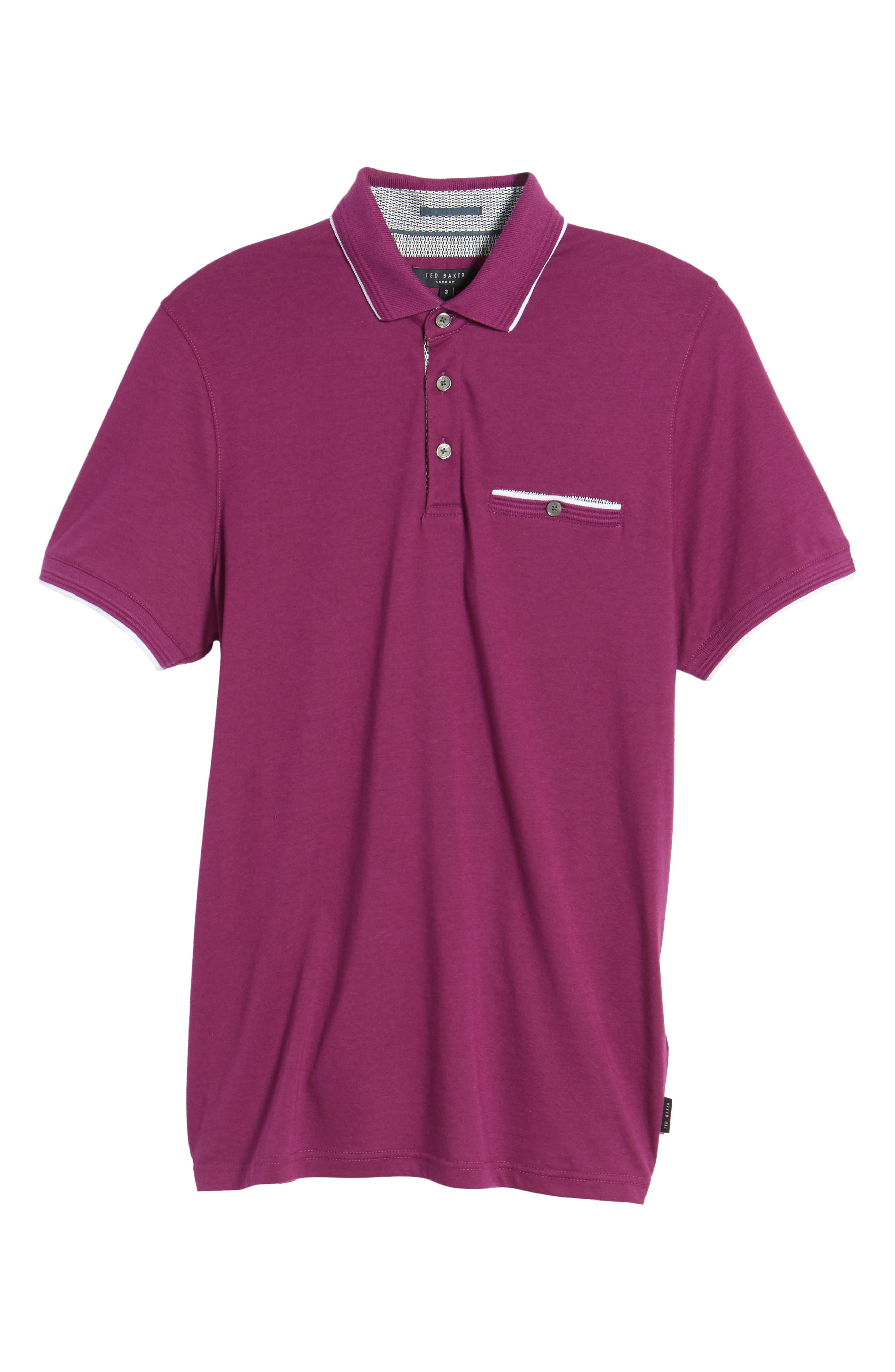Derry Modern Slim Fit Polo,                         Main,                         color, Deep Purple