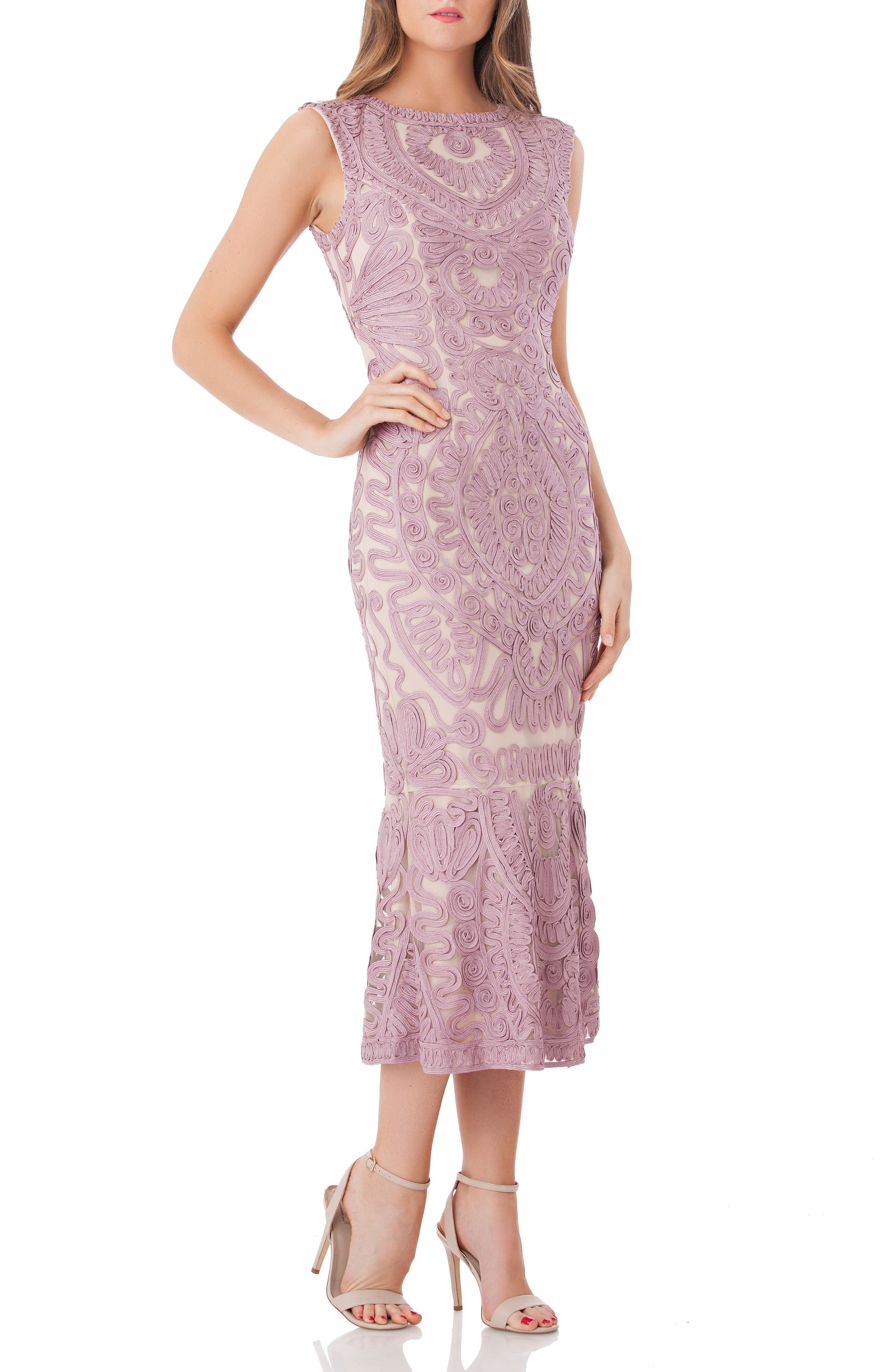 JS Collections Soutache Mesh Dress (Regular & Petite)