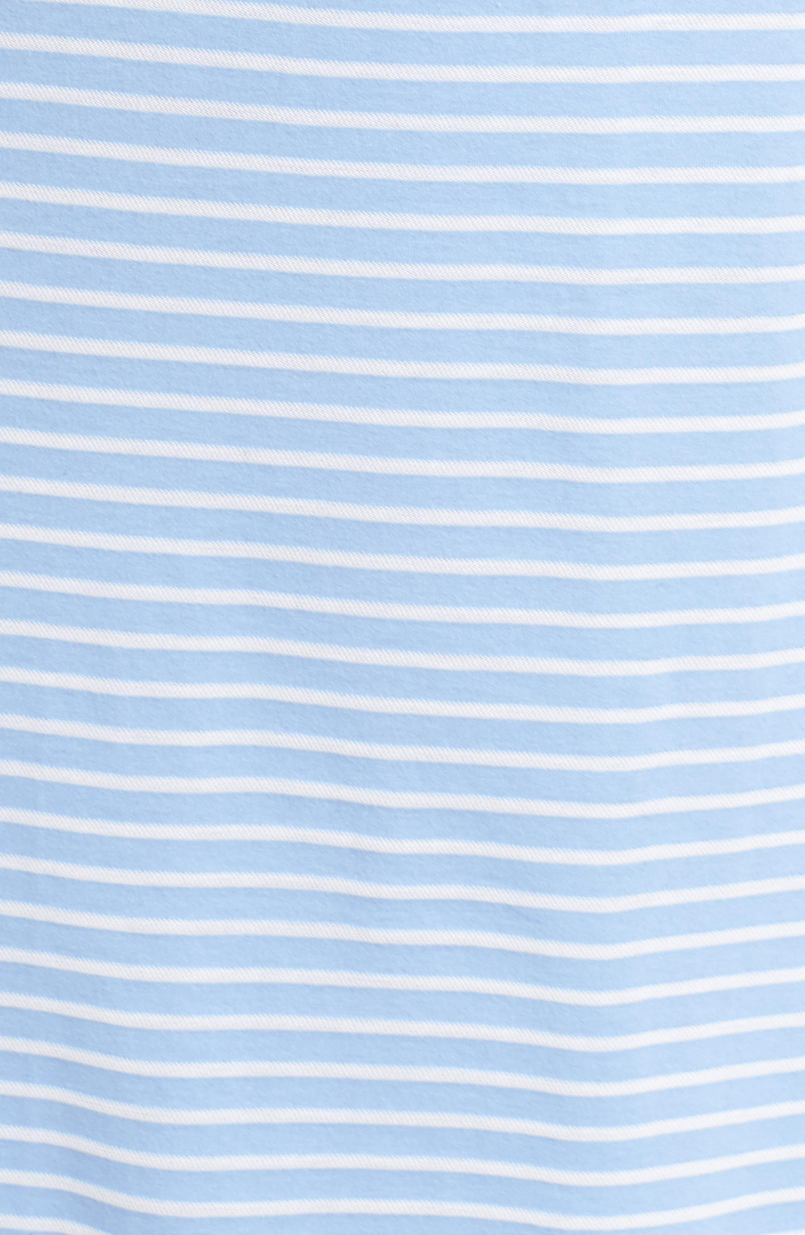 Piqué Cotton Ballet Gown,                             Alternate thumbnail 6, color,                             Blue Stripe