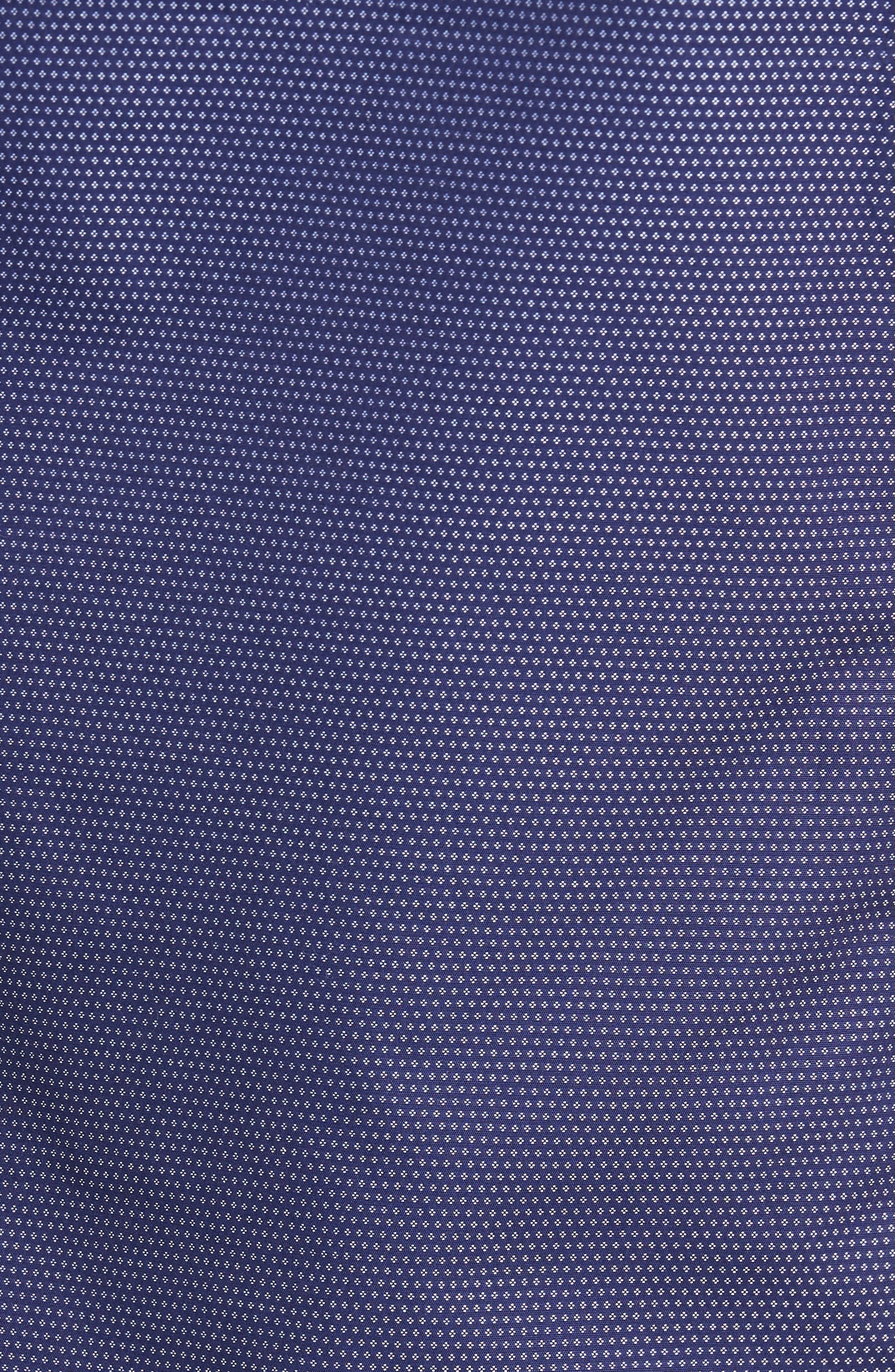 Dotdots Trim Fit Dot Short Sleeve Sport Shirt,                             Alternate thumbnail 5, color,                             Navy