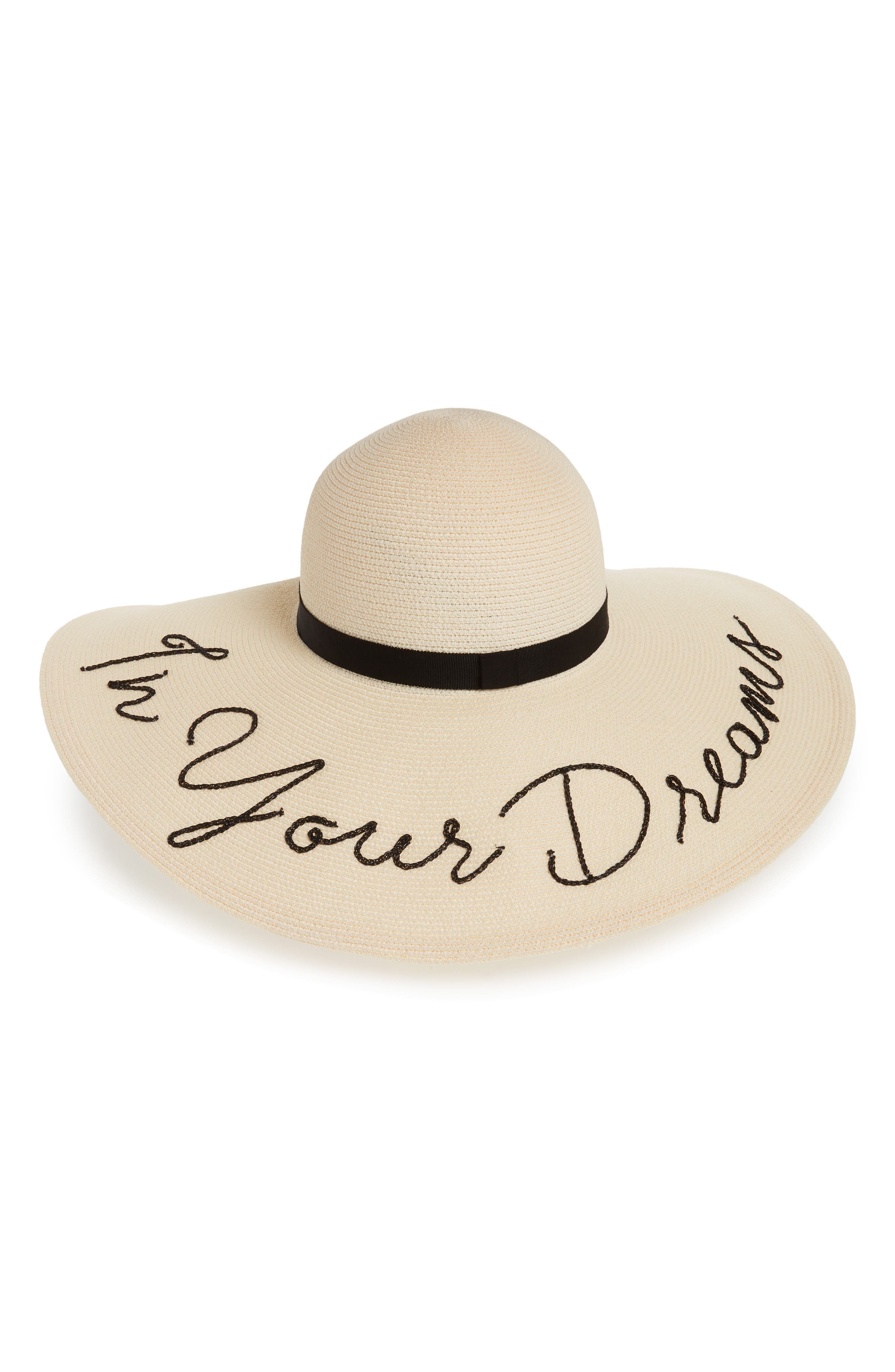 Bunny In Your Dreams Sun Hat,                         Main,                         color, Ivory