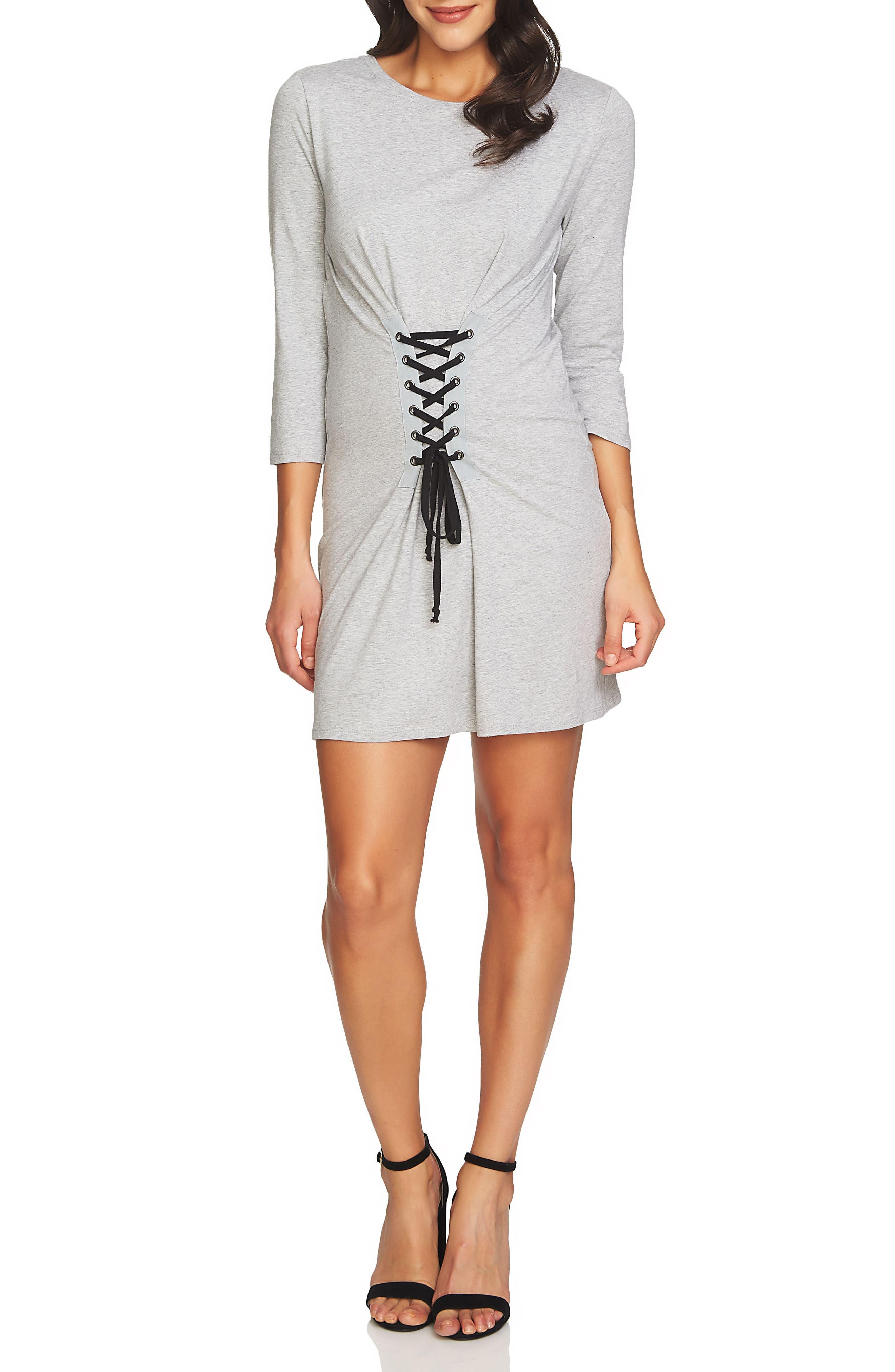 1.STATE Corset Detail Knit Dress