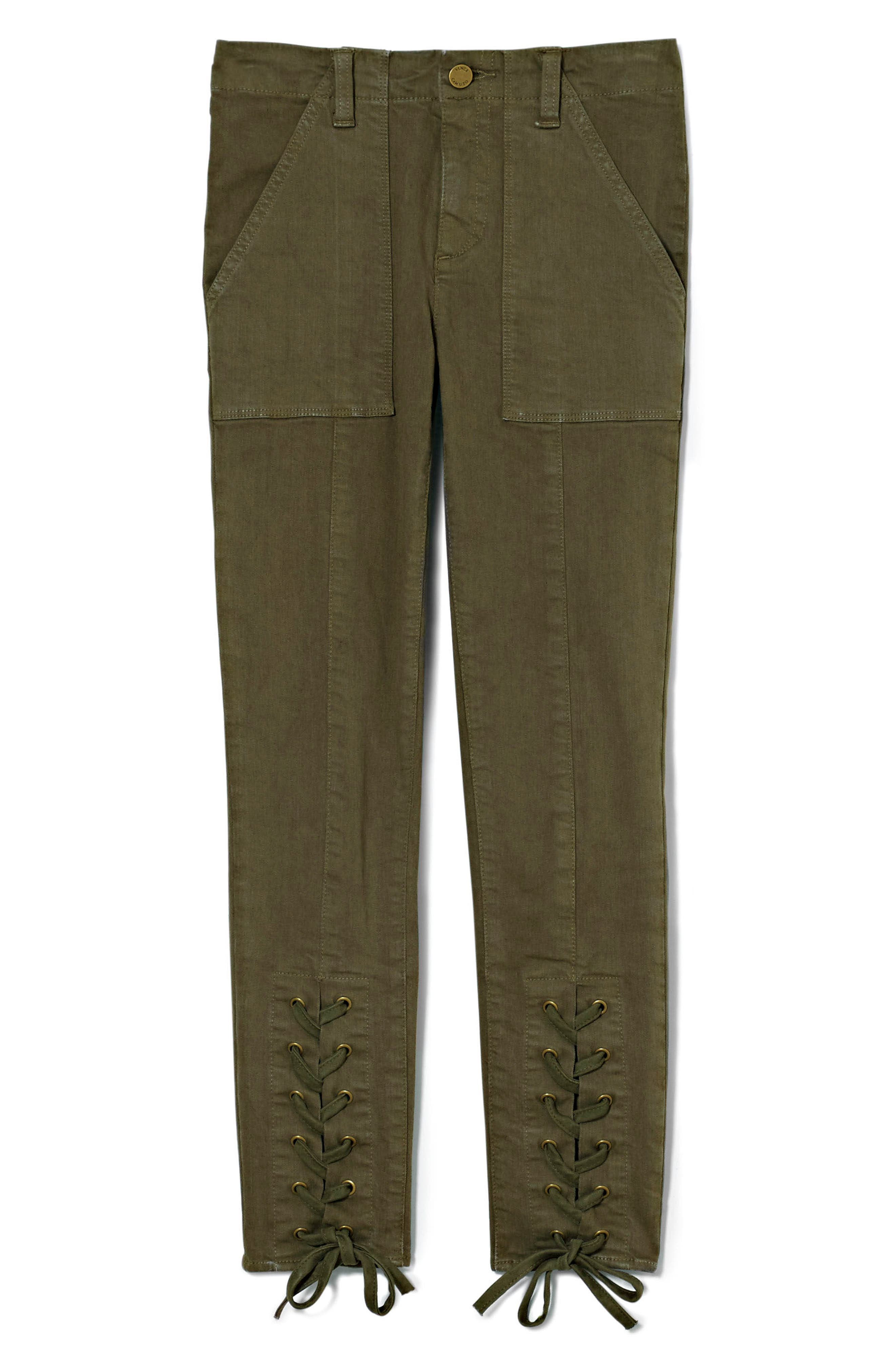Lace-Up Cuff D-Luxe Pants,                             Alternate thumbnail 6, color,                             Legion Green
