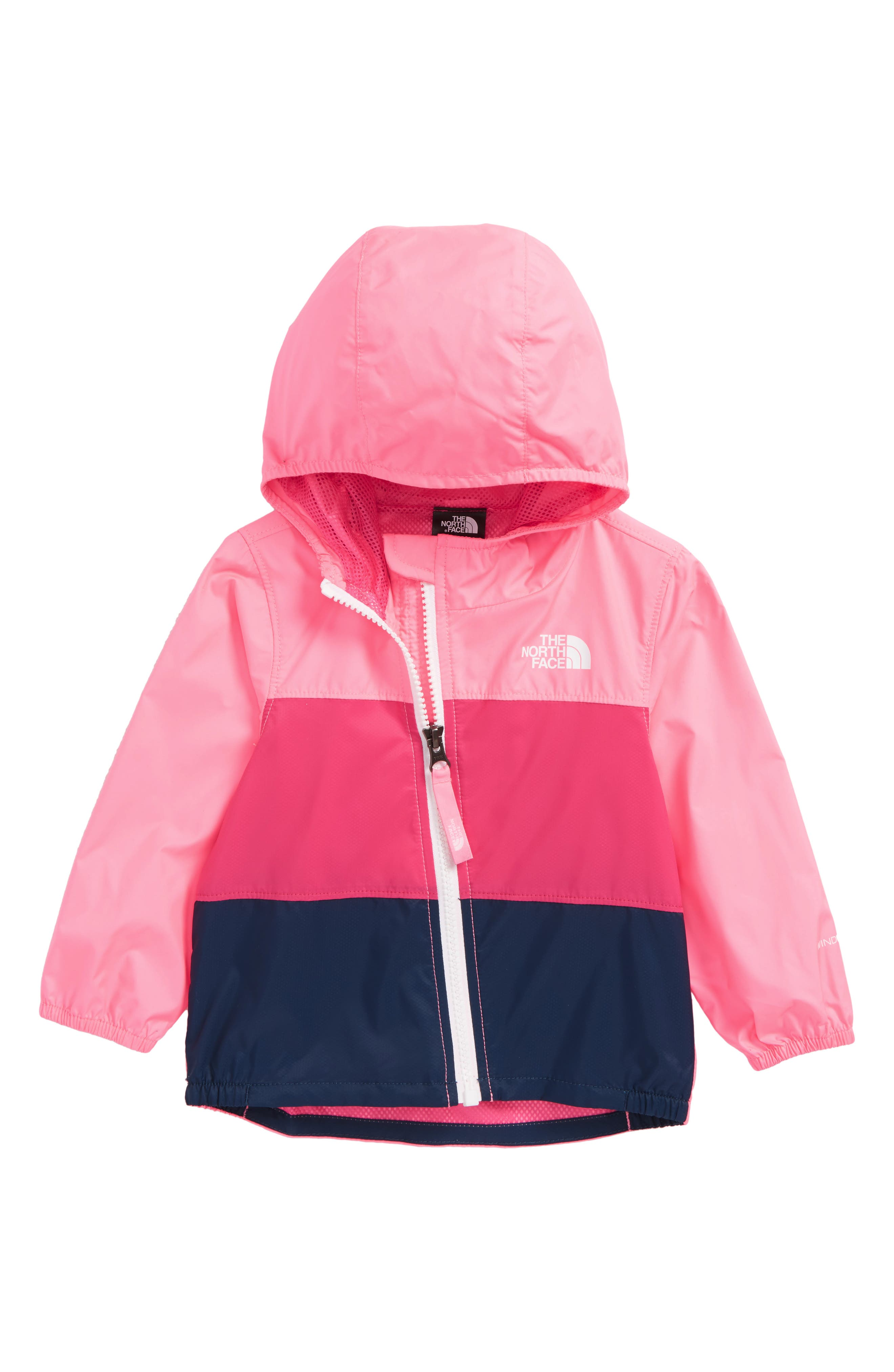 Main Image - The North Face Flurry Hooded Windbreaker (Baby Girls)