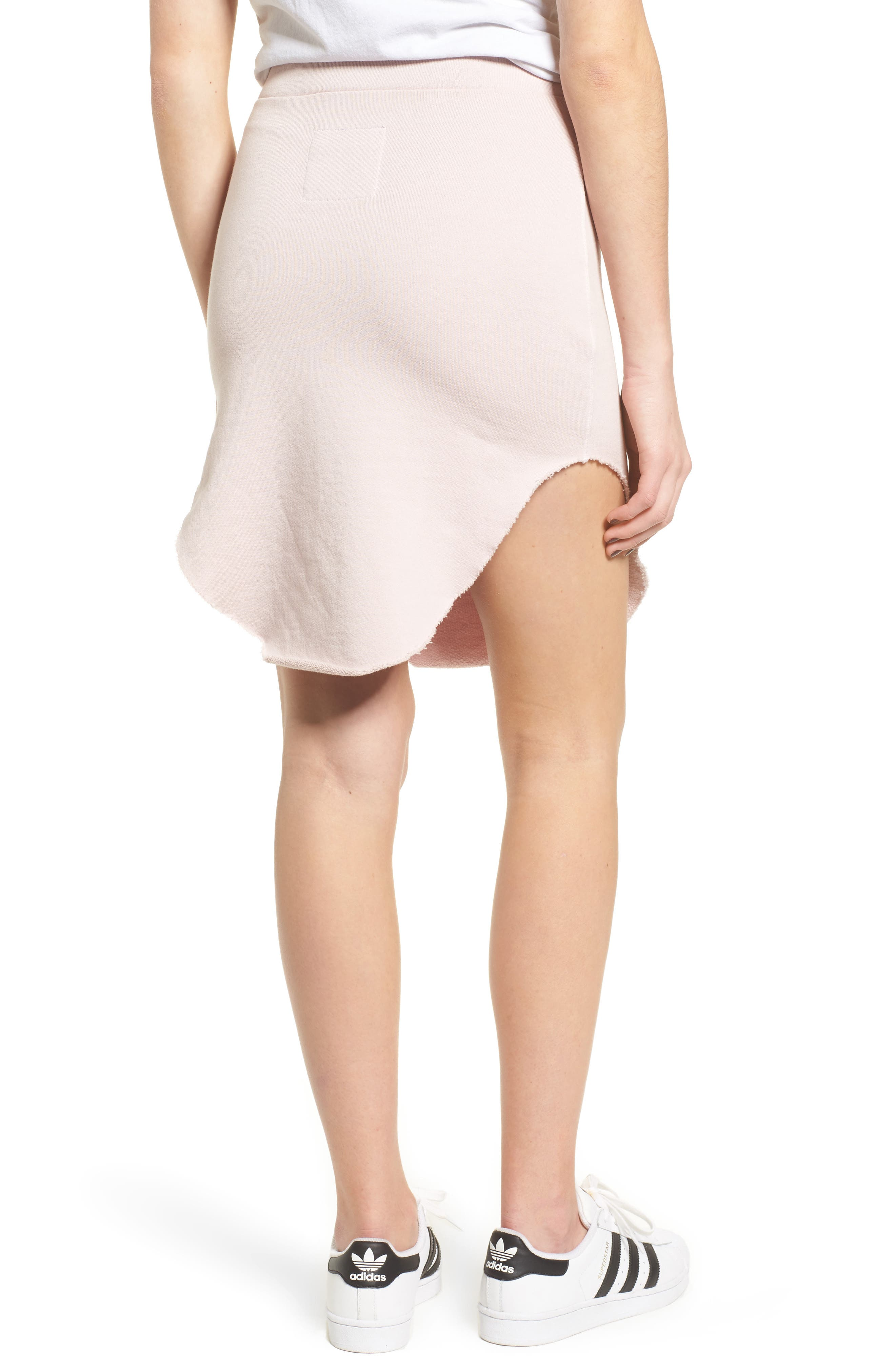 Tee Lab Short Fleece Skirt,                             Alternate thumbnail 2, color,                             Bazooka