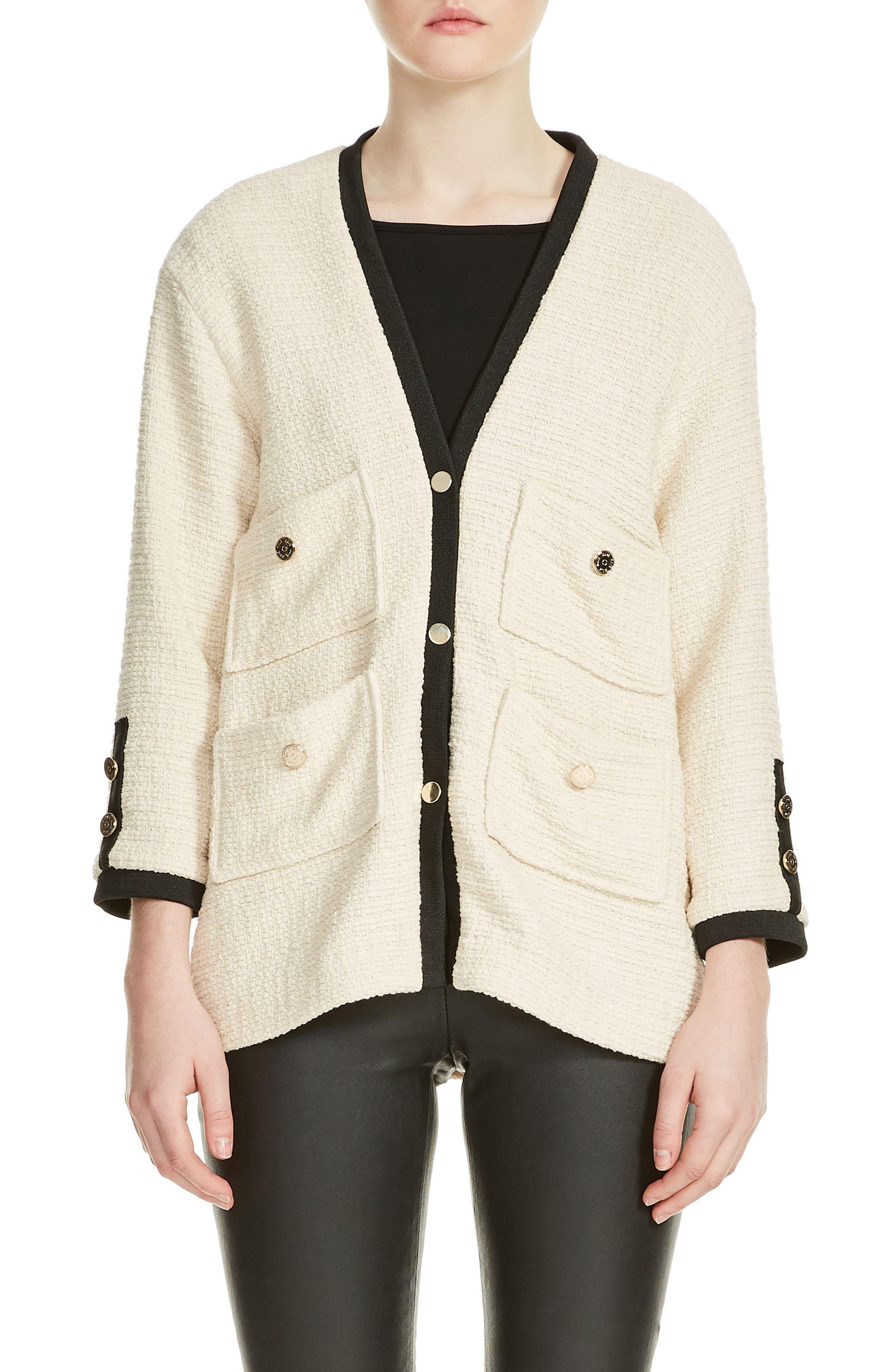 Tweed Jacket,                             Main thumbnail 1, color,                             Ecru