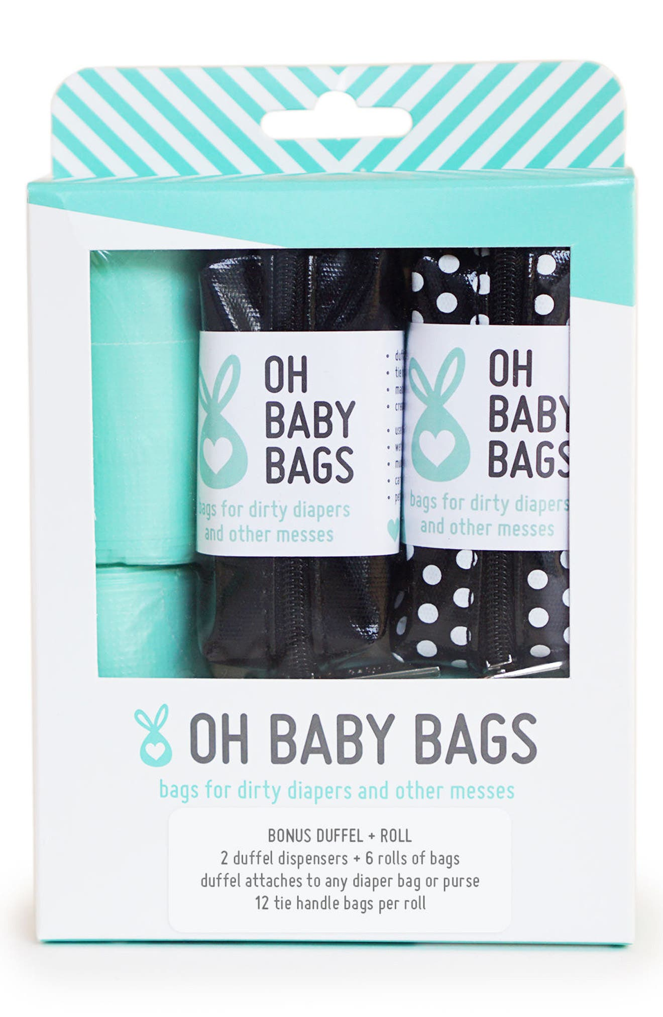 Alternate Image 1 Selected - Oh Baby Bags Portable Clip-On Dispenser & Bag Set