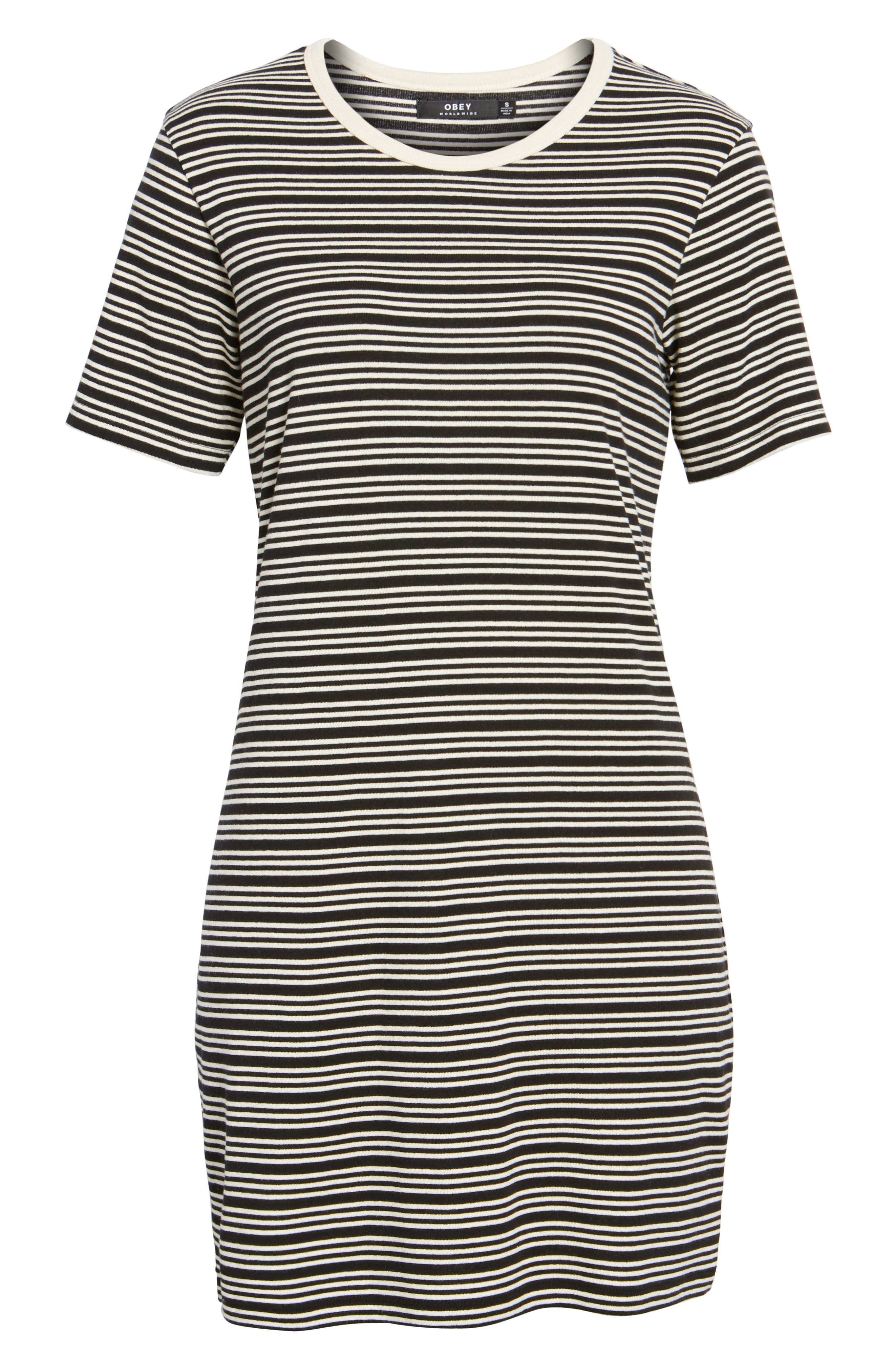 Alternate Image 6  - Obey Freya Stripe T-Shirt Dress