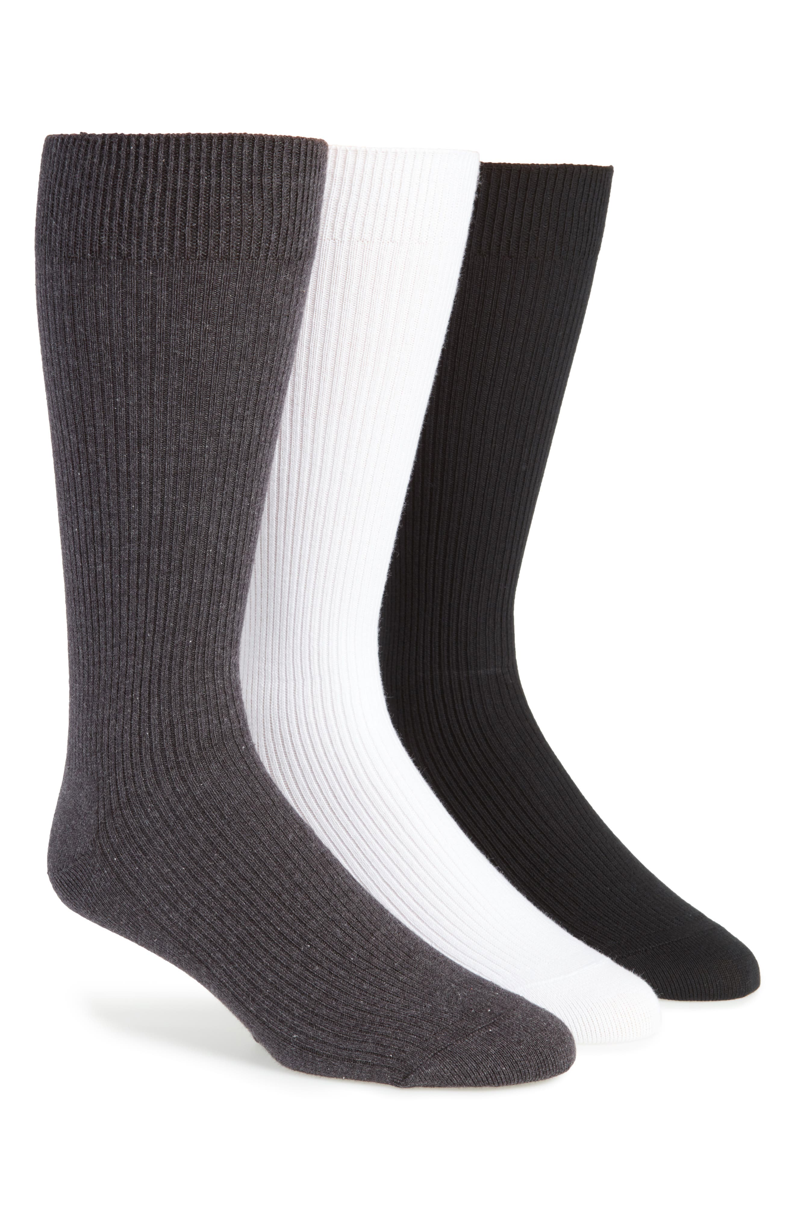 Alternate Image 1 Selected - Nordstrom Men's Shop 3-Pack Socks