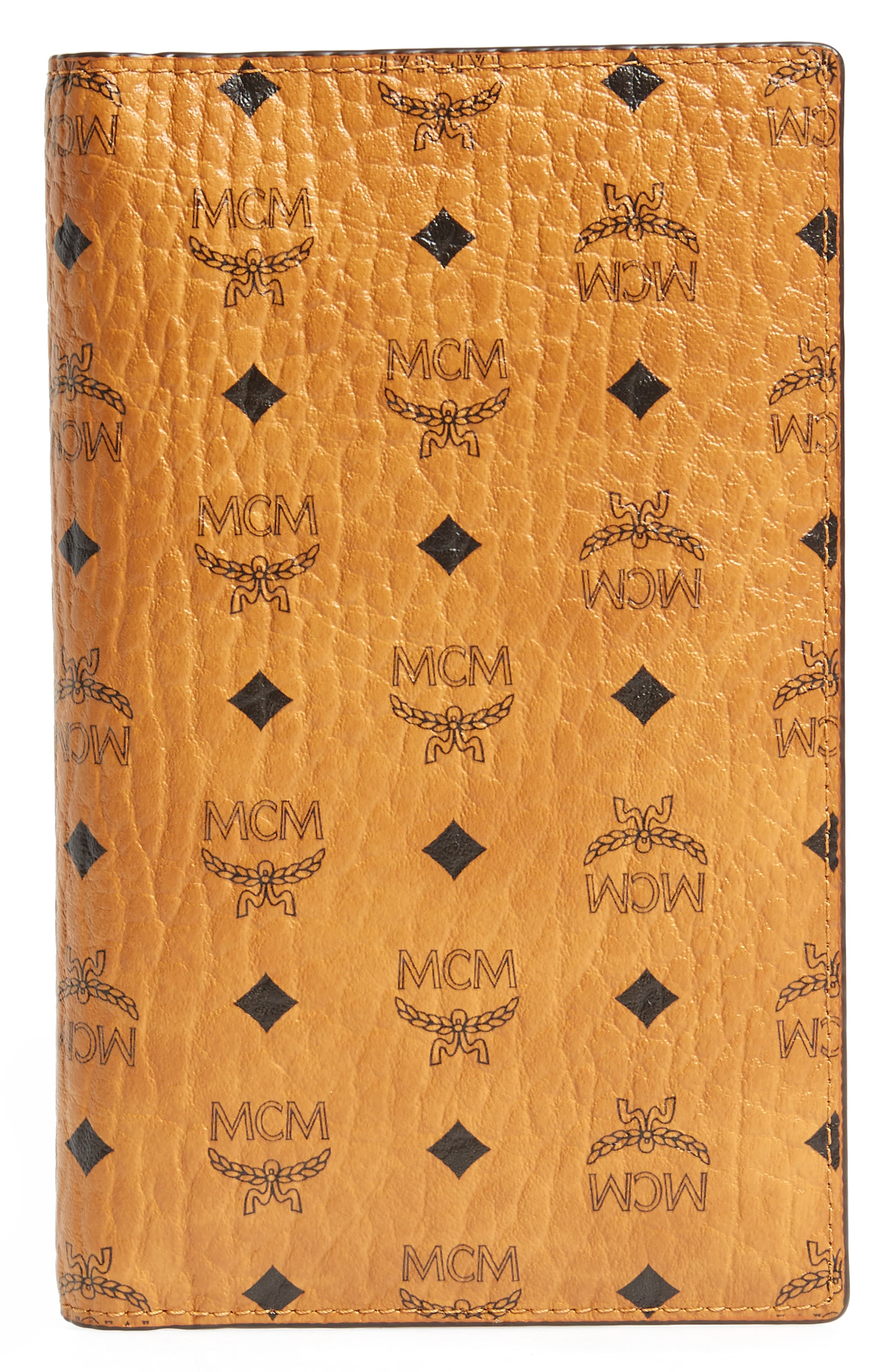 MCM Visetos Coated Canvas Passport Case