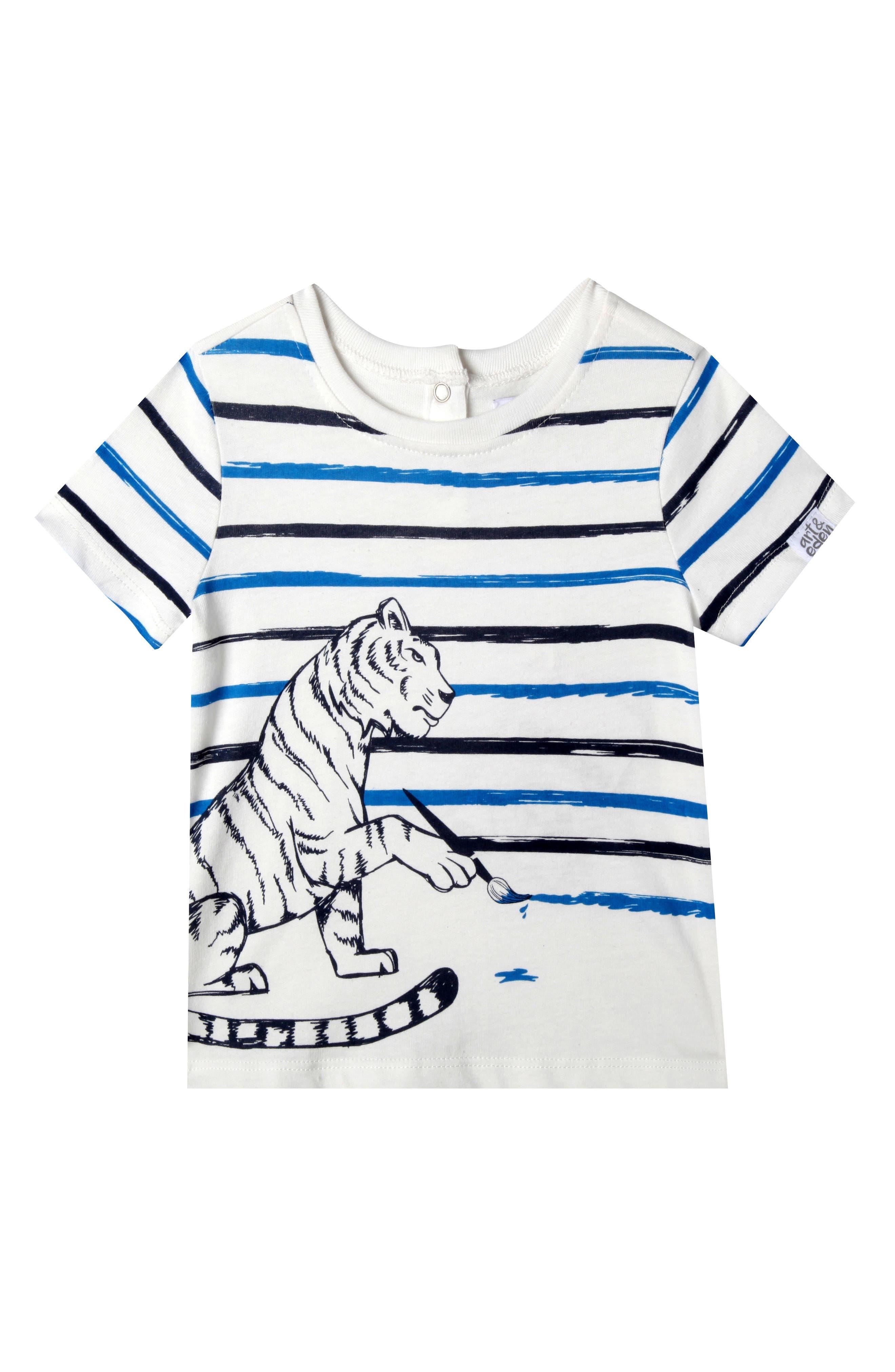Caleb T-Shirt,                         Main,                         color, Egret