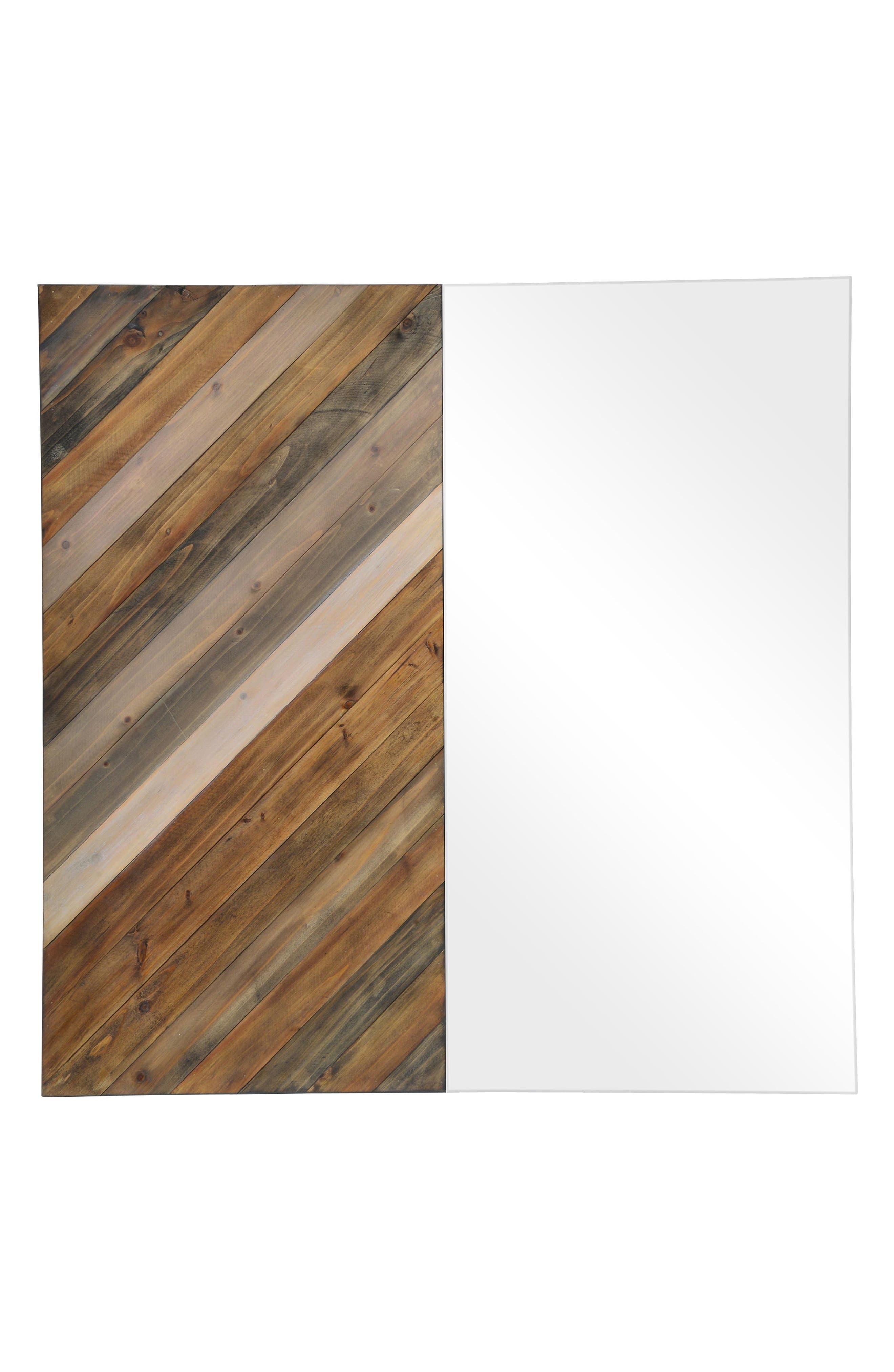 Diptych Mirror,                             Main thumbnail 1, color,                             Natural Wood
