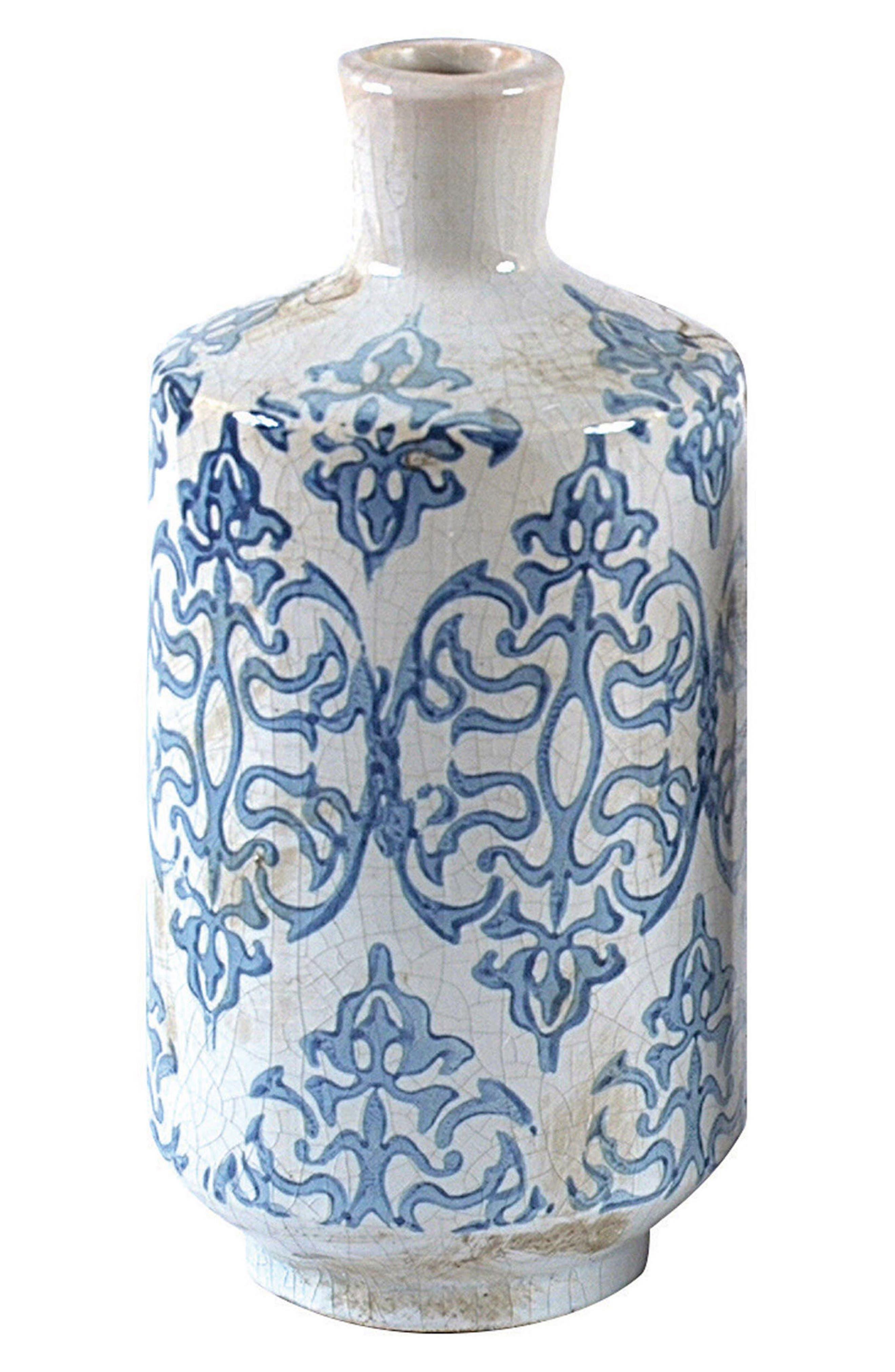 Ceramic Vase,                             Main thumbnail 1, color,                             Blue
