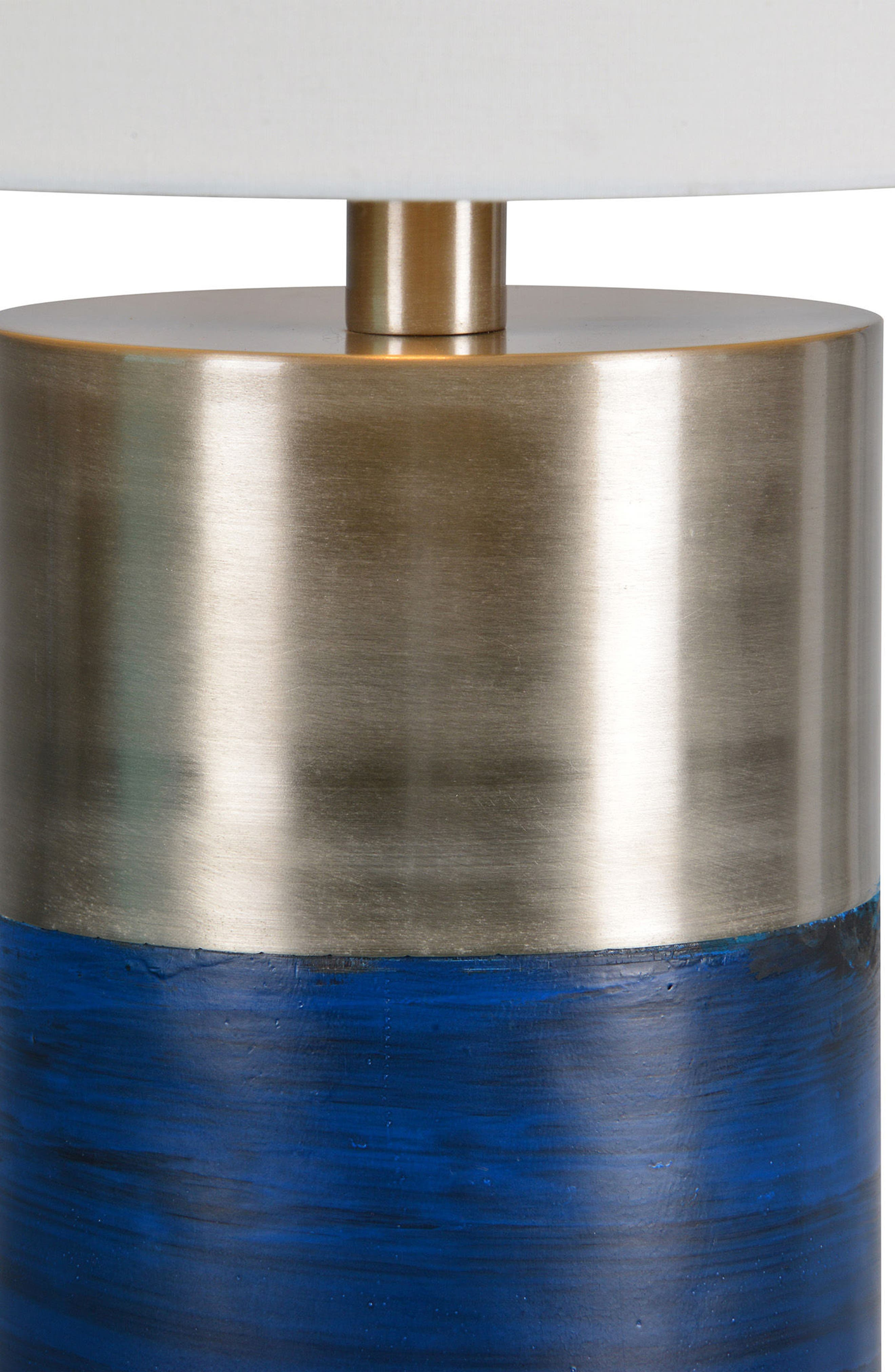 Glint Table Lamp,                             Alternate thumbnail 2, color,                             Blue/ Satin Nickel