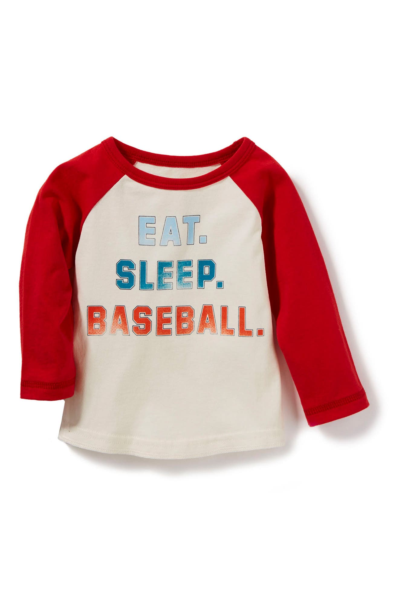 Peek Eat Sleep Baseball Graphic T-Shirt (Baby Boys)