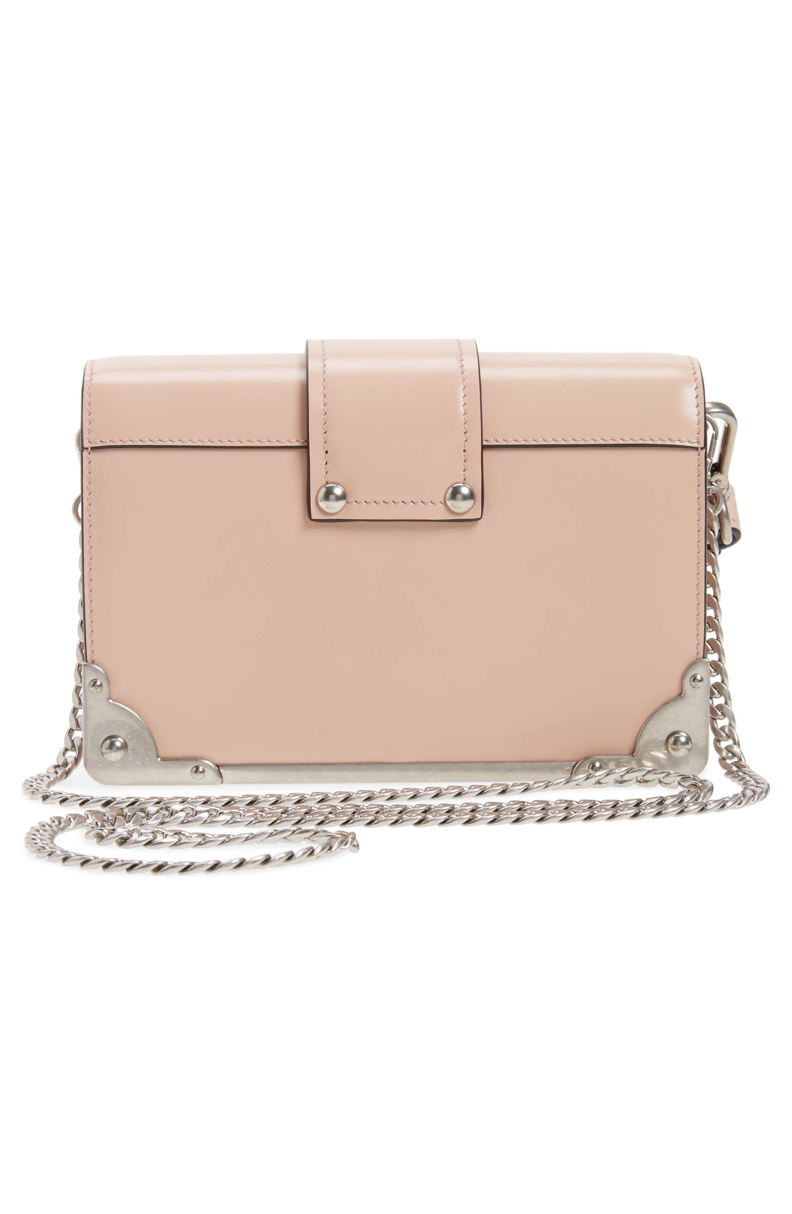 Small Cahier Leather Shoulder Bag,                             Alternate thumbnail 3, color,                             Pesca