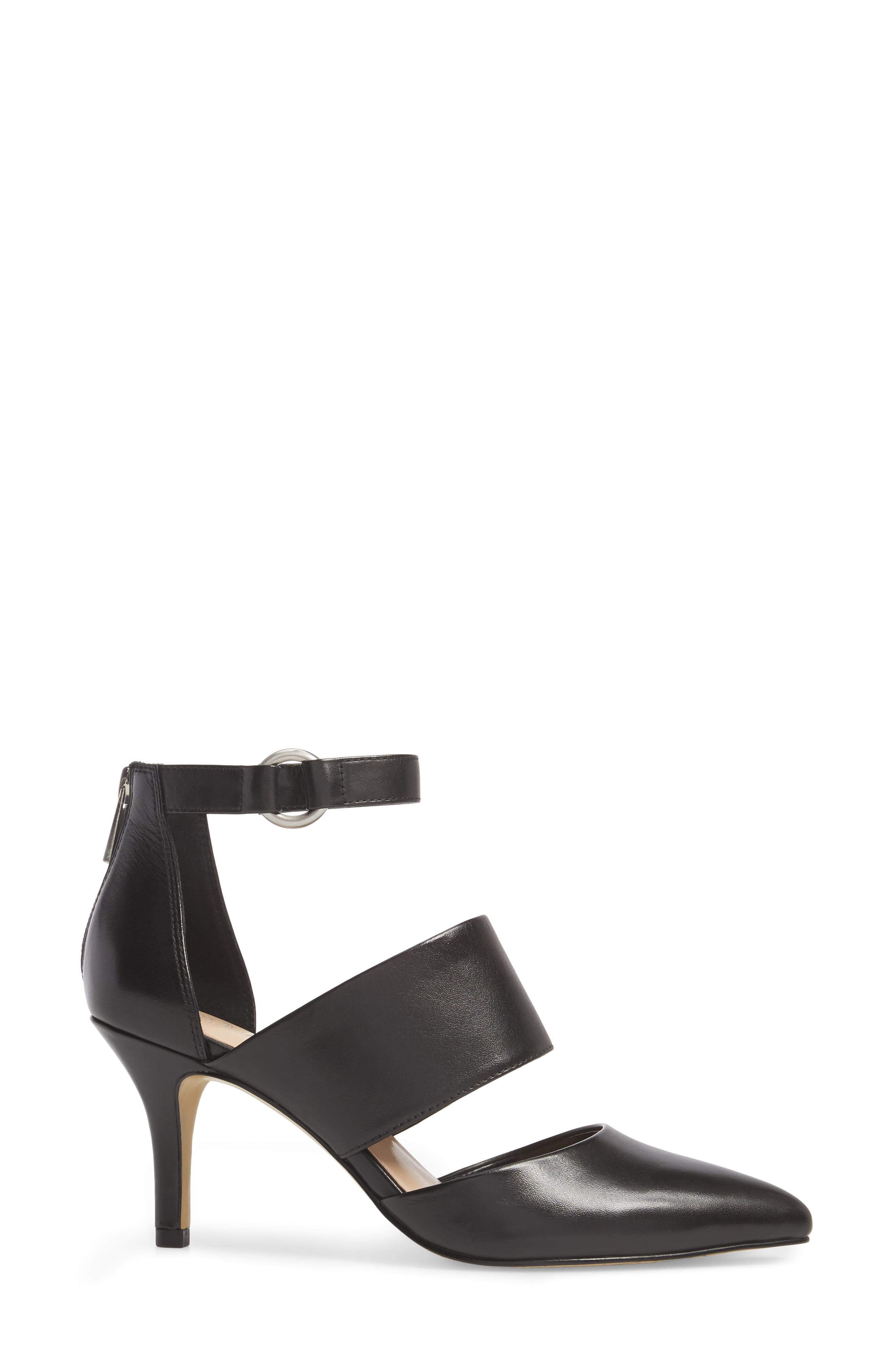Diana Pump,                             Alternate thumbnail 3, color,                             Black Leather
