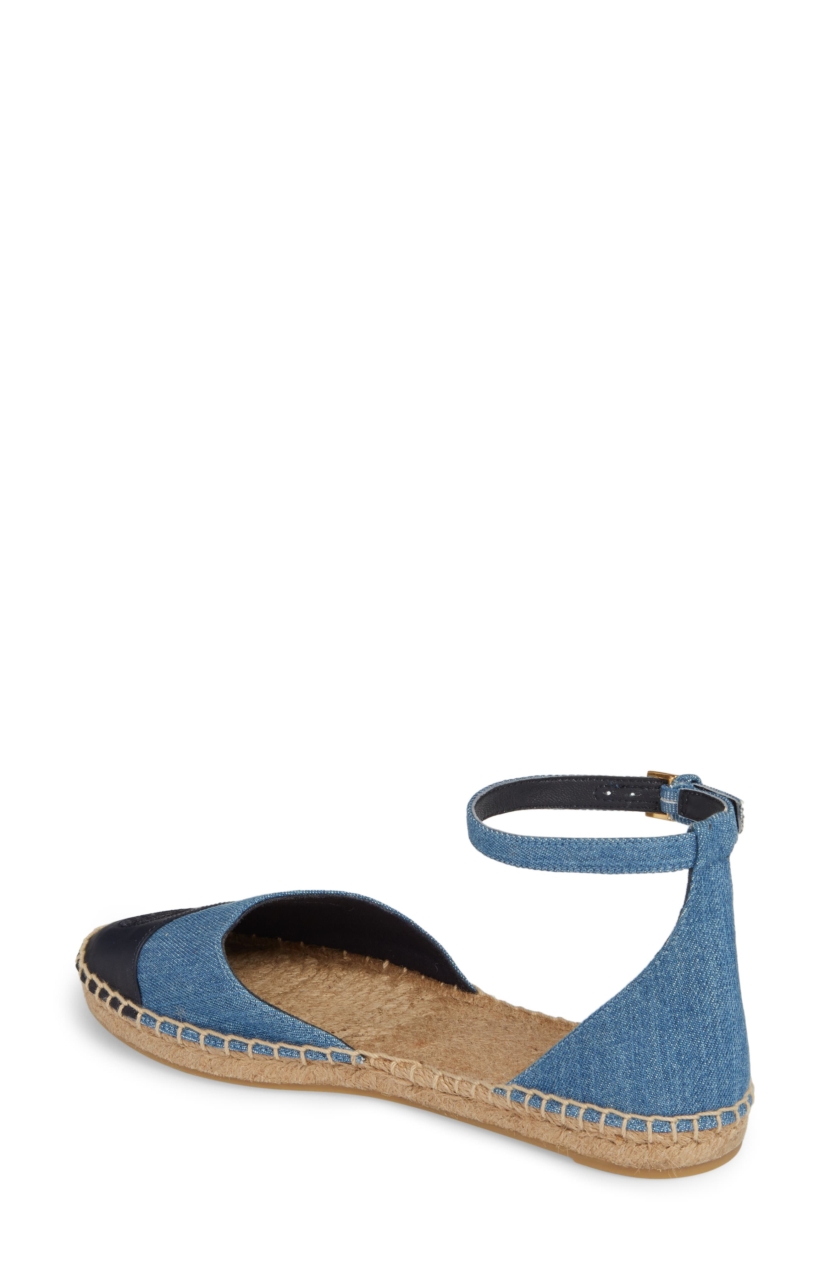 Ankle Strap Espadrille,                             Alternate thumbnail 2, color,                             Denim Chambray/ Perfect Navy